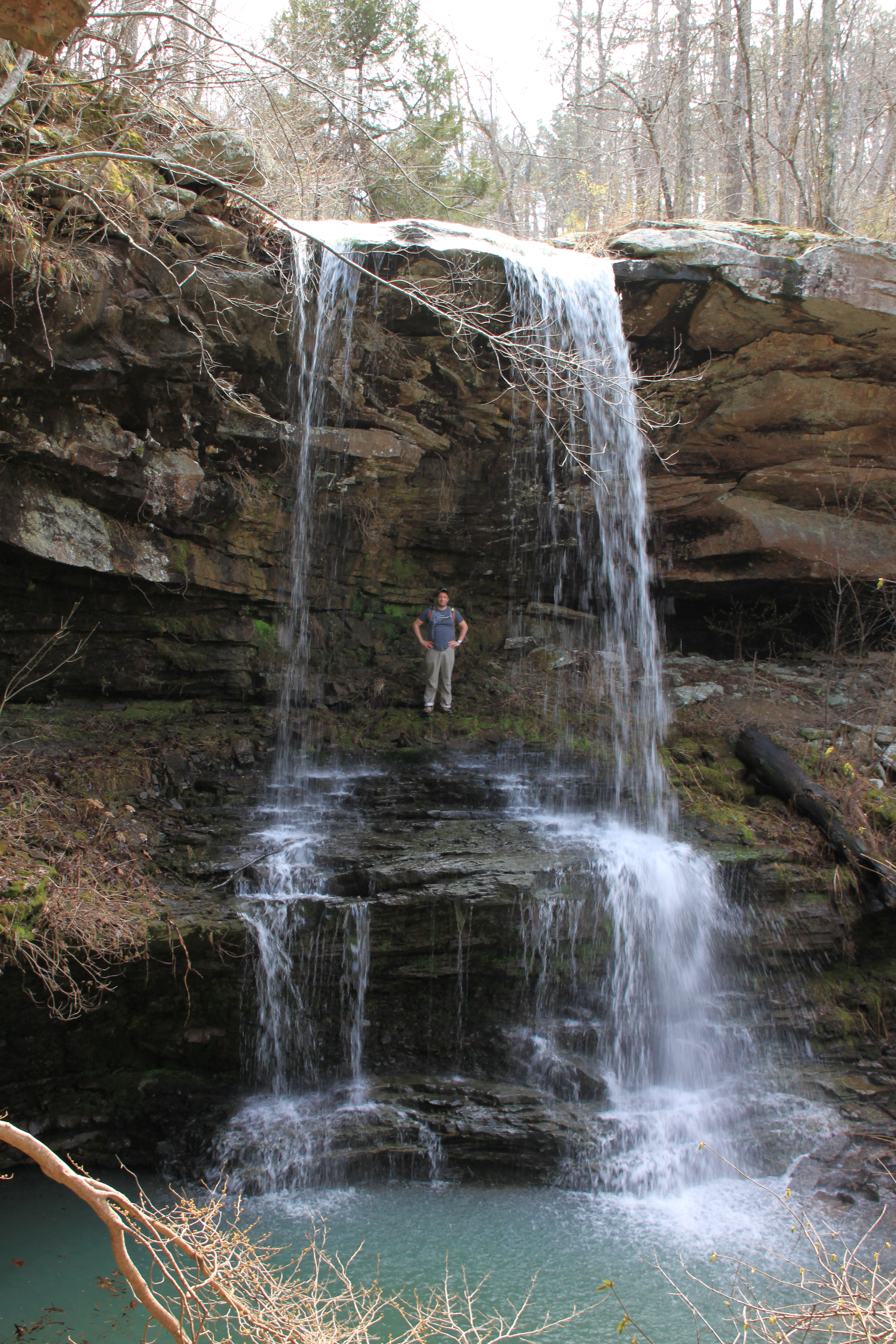 Red grove waterfall photo