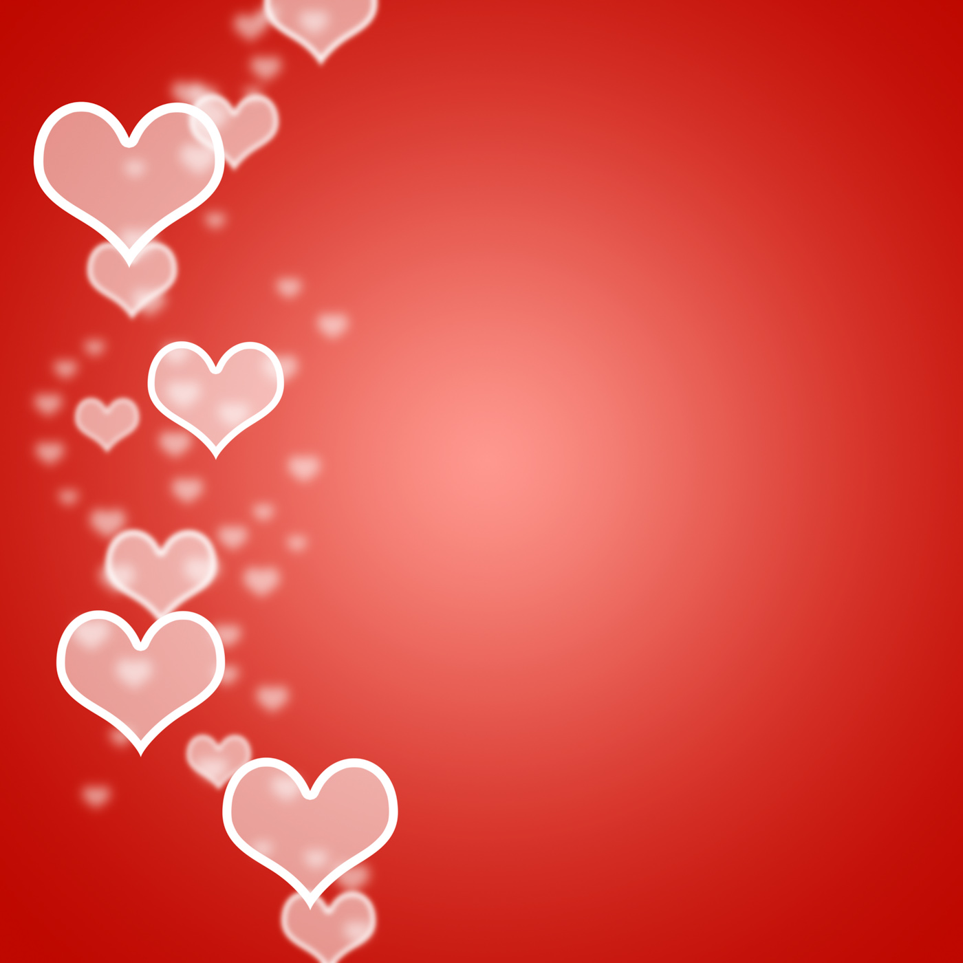 Showing Love: Free Photo: Red Hearts Bokeh Background With Blank