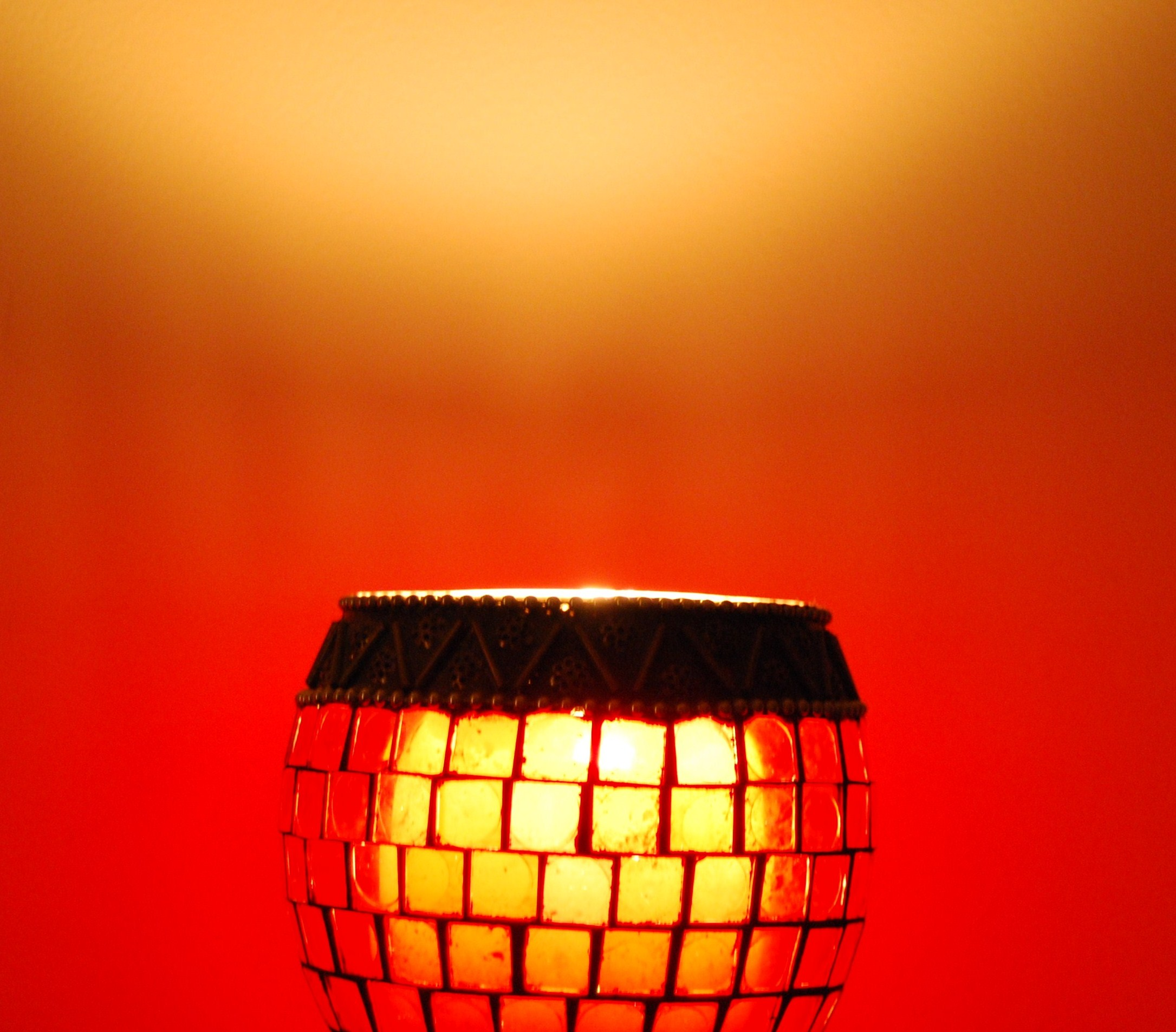 Red lamp photo