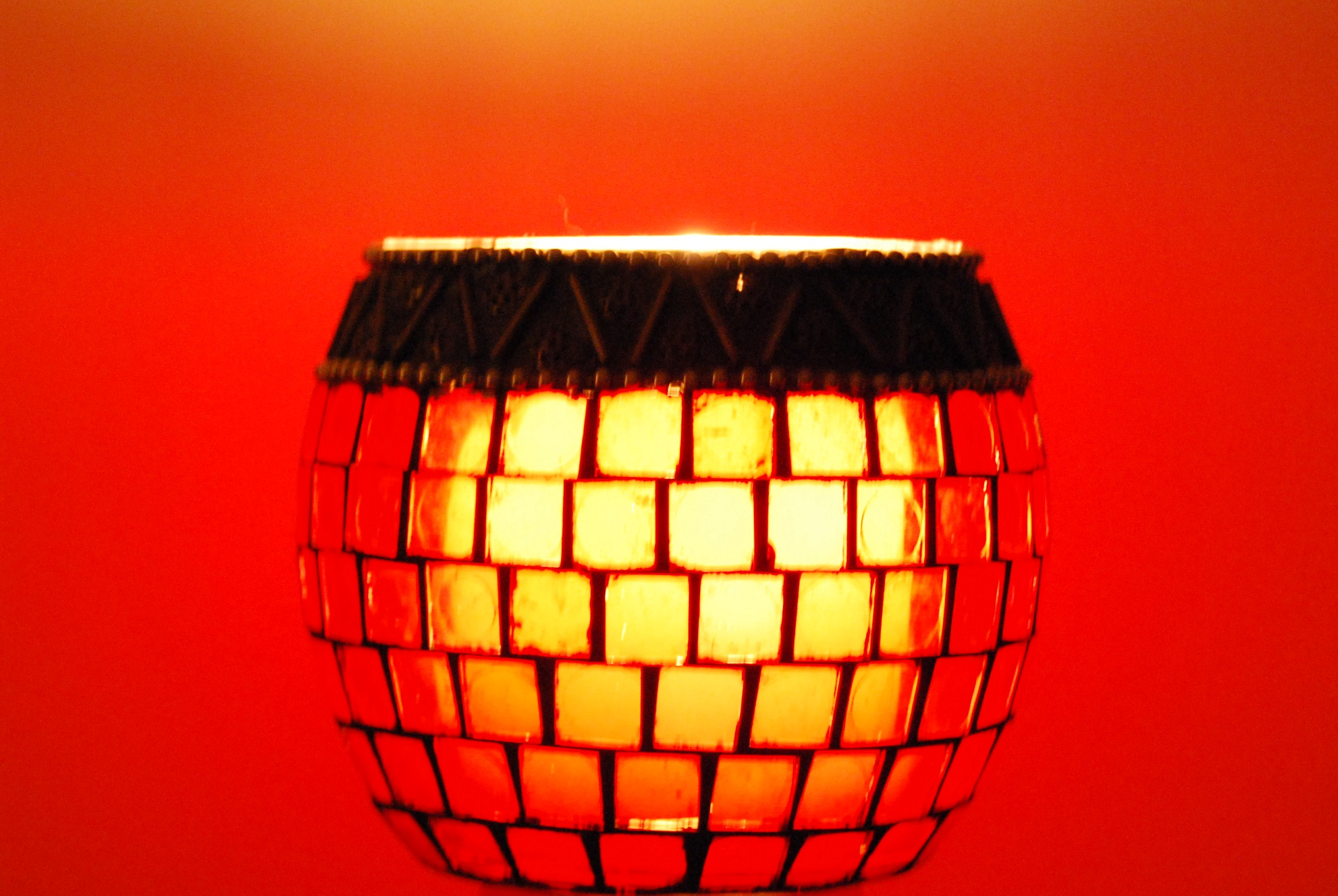 Red lamp, Amber, Candle, Glow, Lamp, HQ Photo
