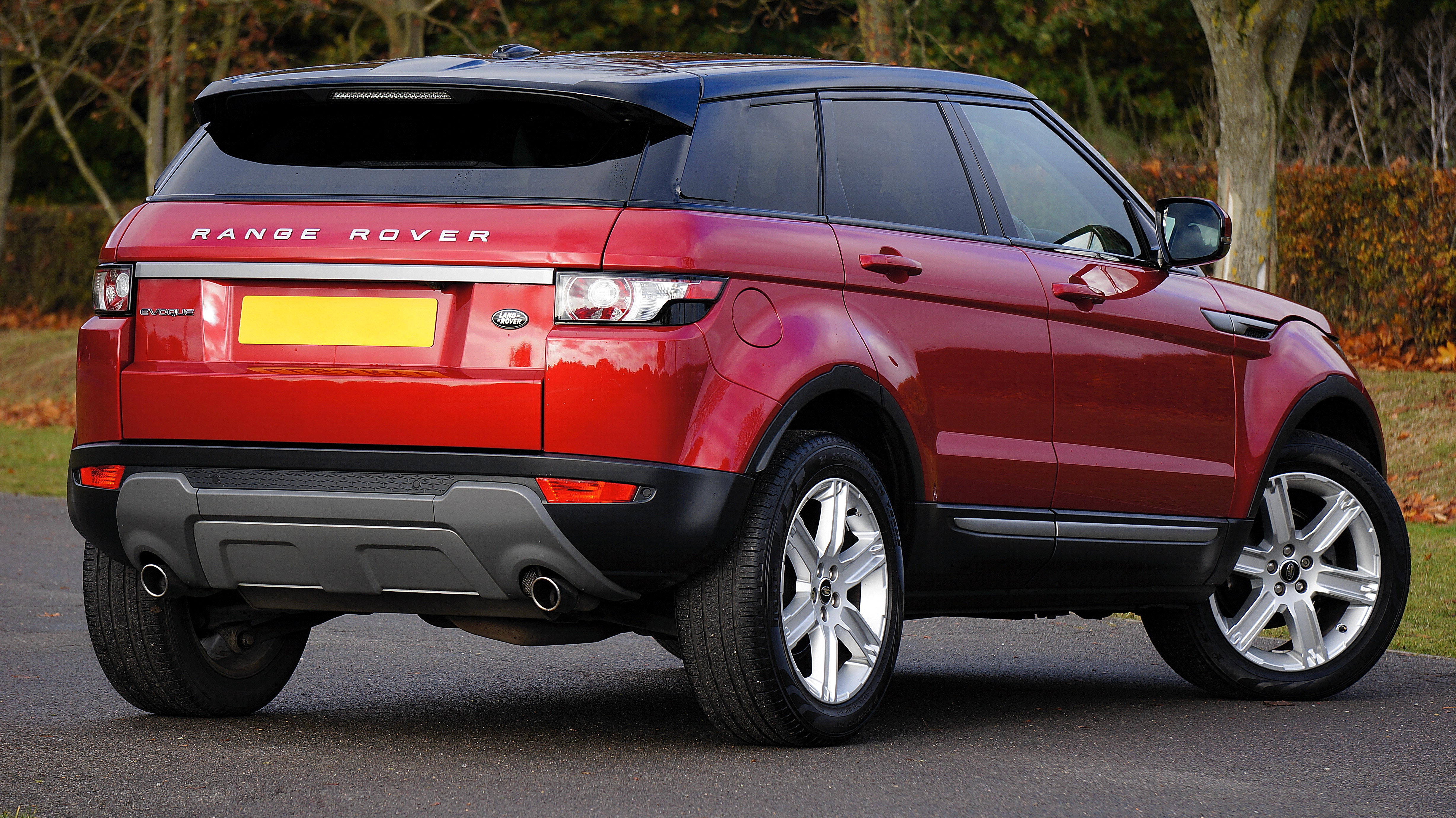 Red land rover range rover photo