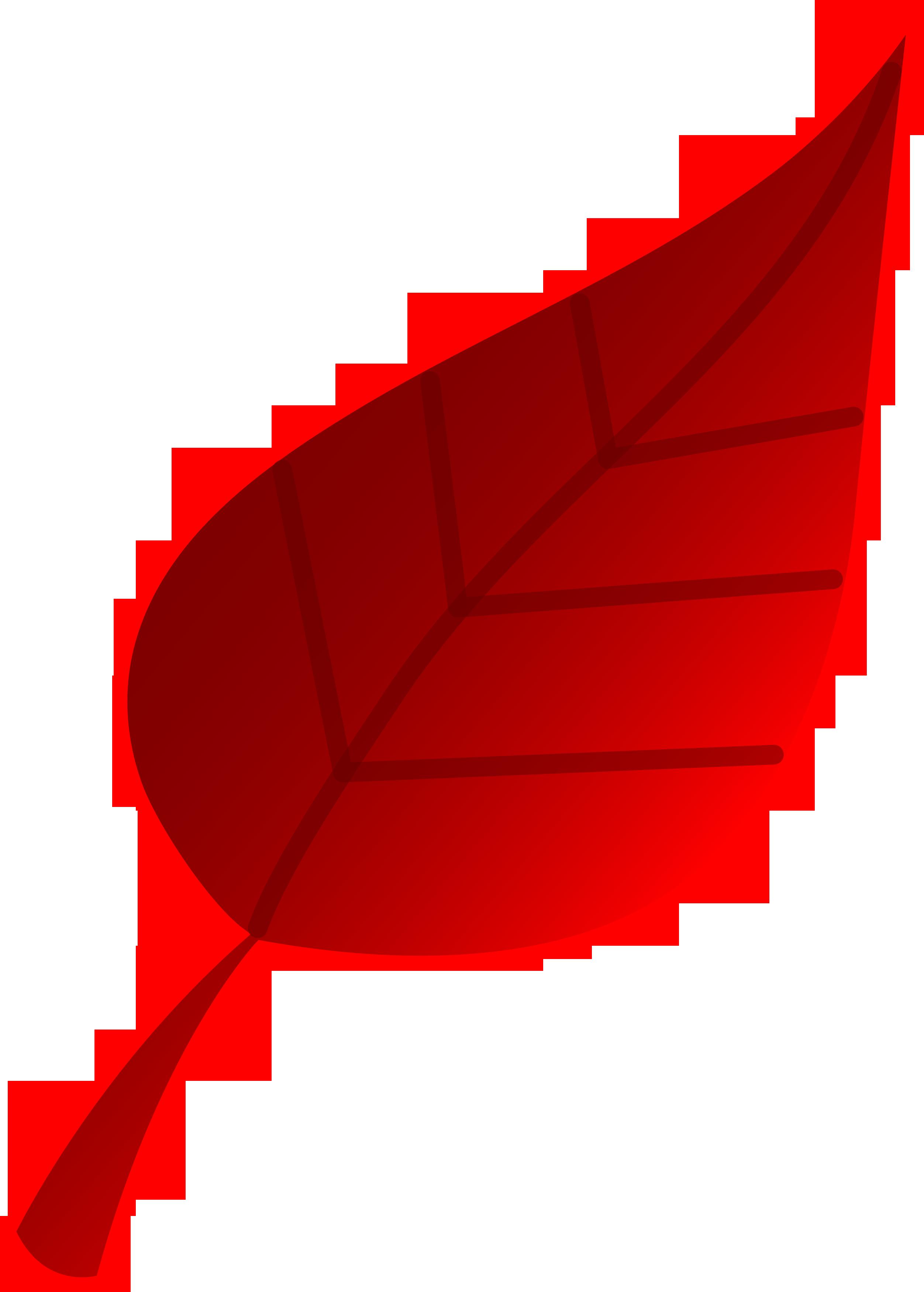 Red Tree Leaf Vector Art - Free Clip Art