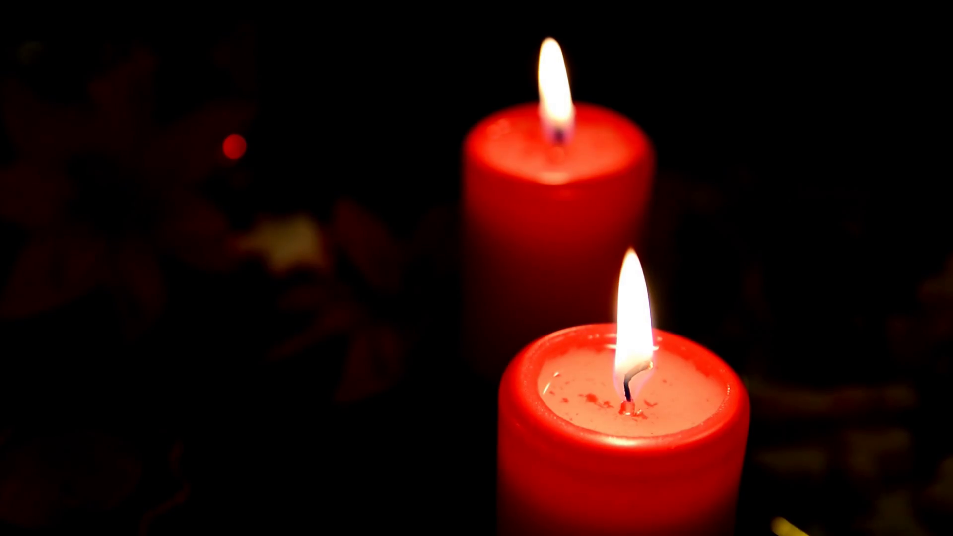 Lighted Wax Candles Romantic atmosphere with scented aroma candles ...