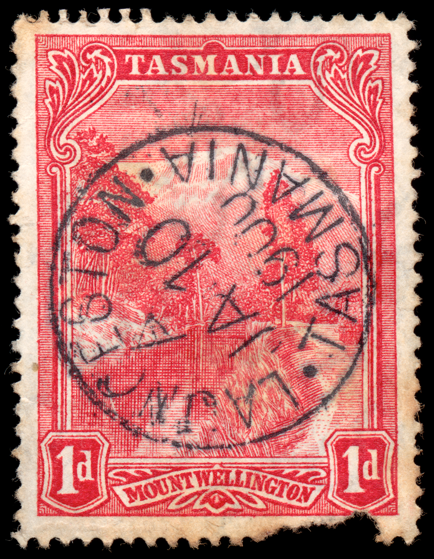 Red mount wellington stamp photo