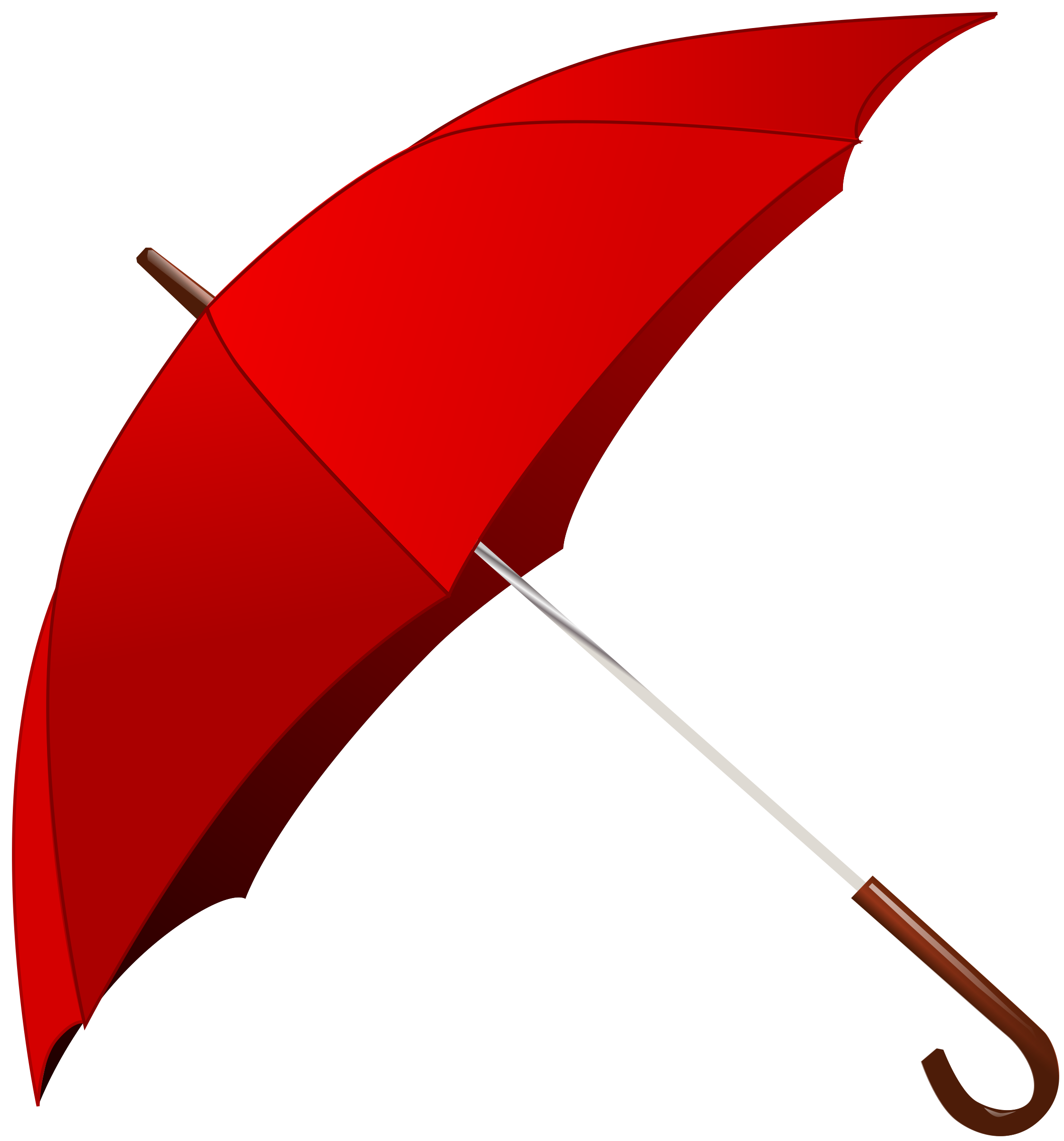 Clipart - Red Umbrella
