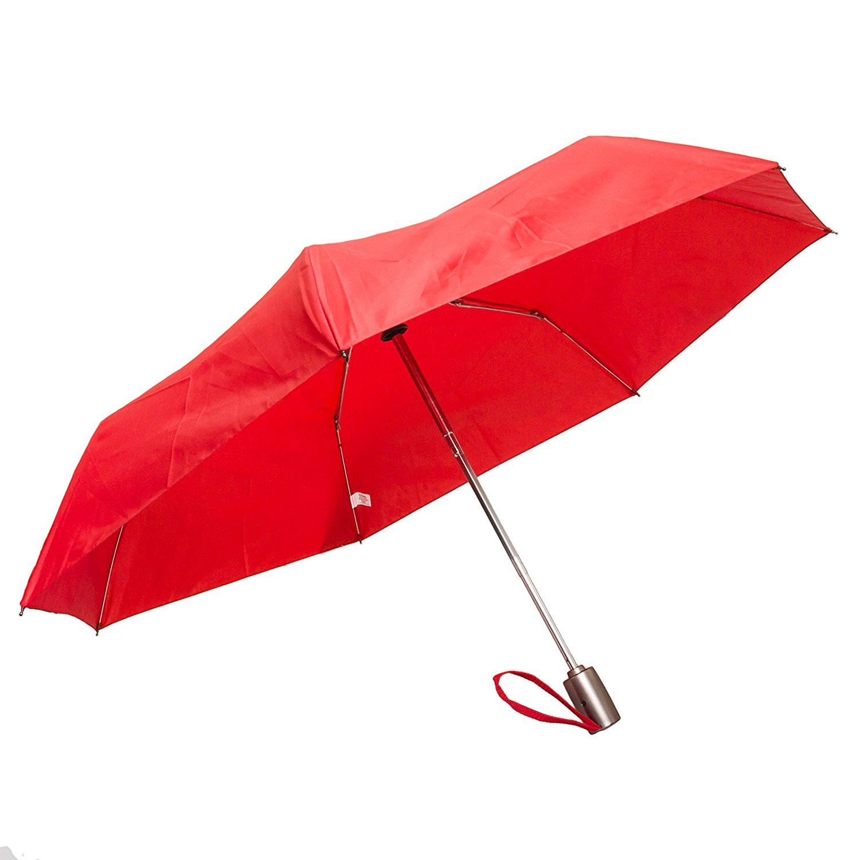 Amazon.com: Totes Auto Open Auto Close Umbrella w/ Grey Handle (Red ...