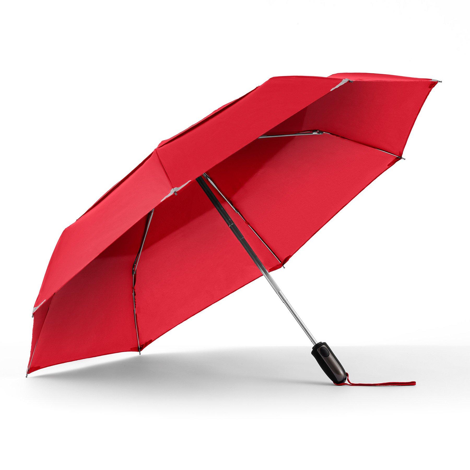Galleon - ShedRain WalkSafe Vented Auto Open Umbrella: Red