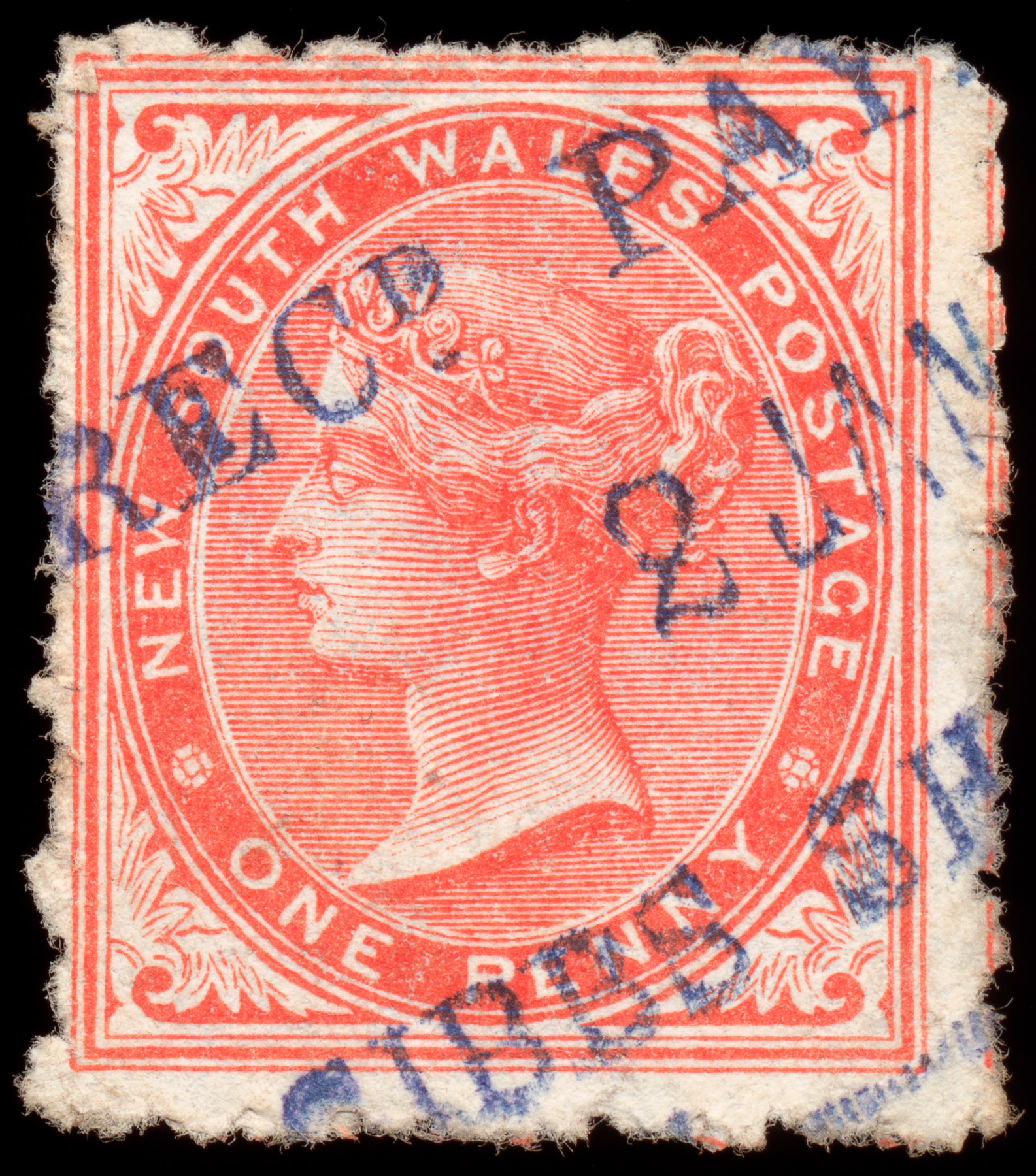 Red queen victoria stamp photo