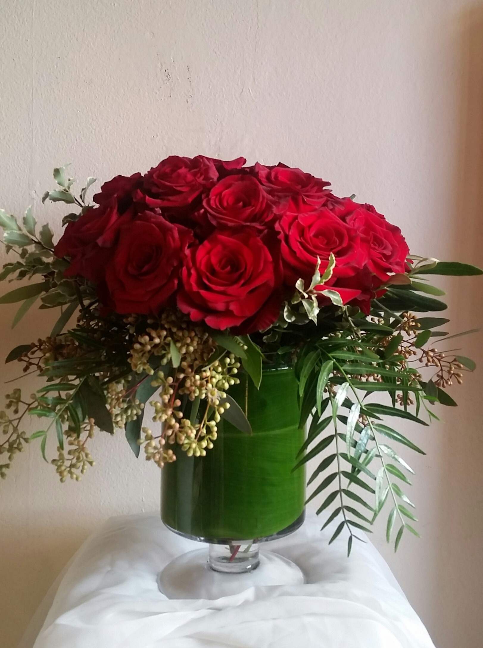 Lush Red Rose in Del Mar, CA | Jolie Fleur