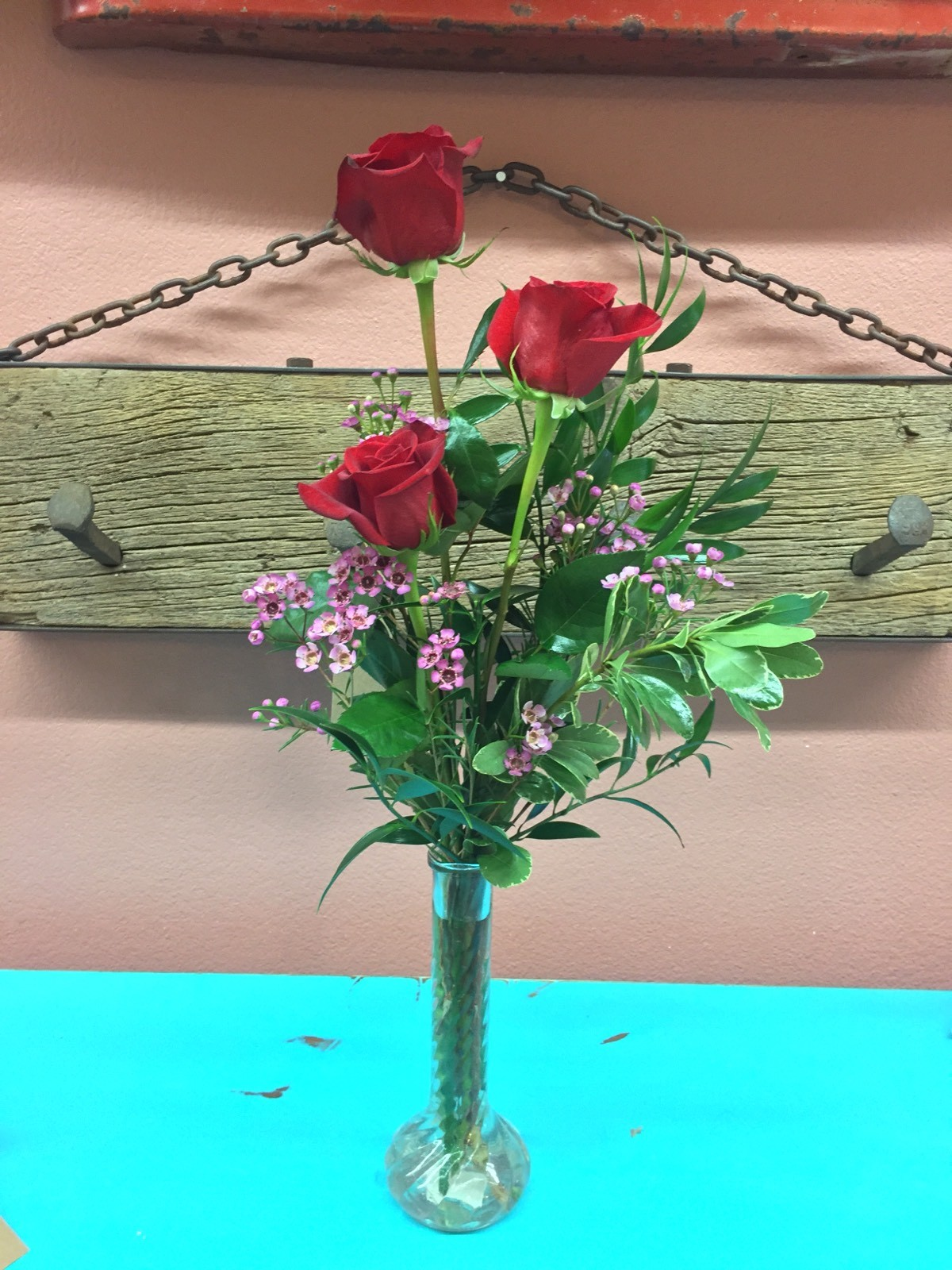 Red Rose Trio in Maricopa, AZ | Cotton Blossom Flower Shop