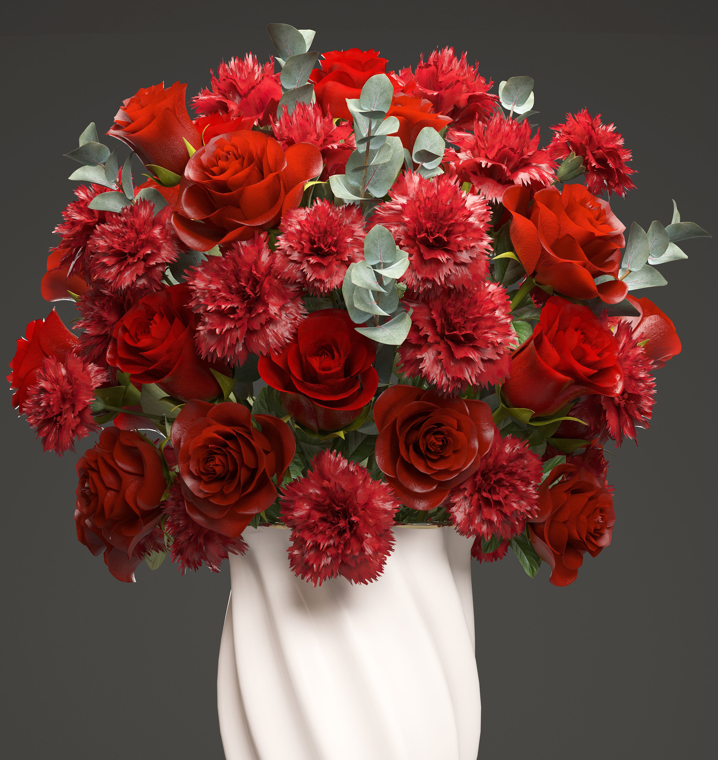 Bouquet of red roses 3D | CGTrader