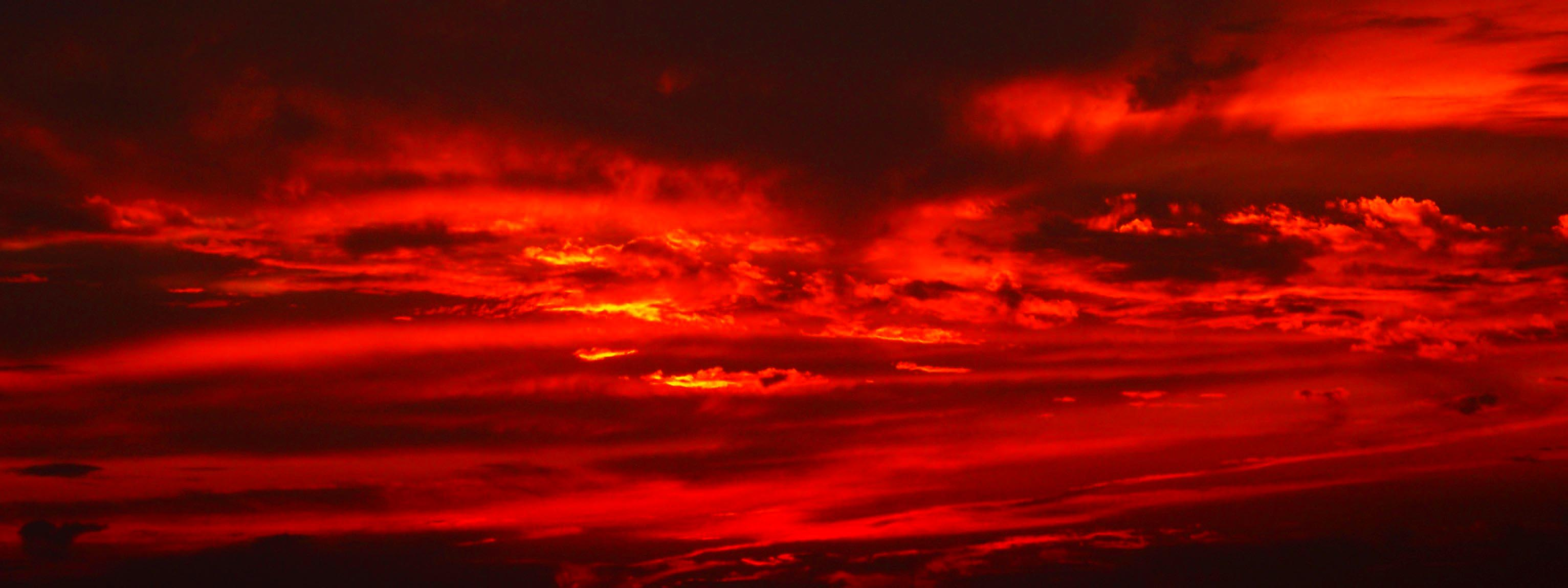 Free Photo Red Sky Burned Clouds Cloudy Free Download