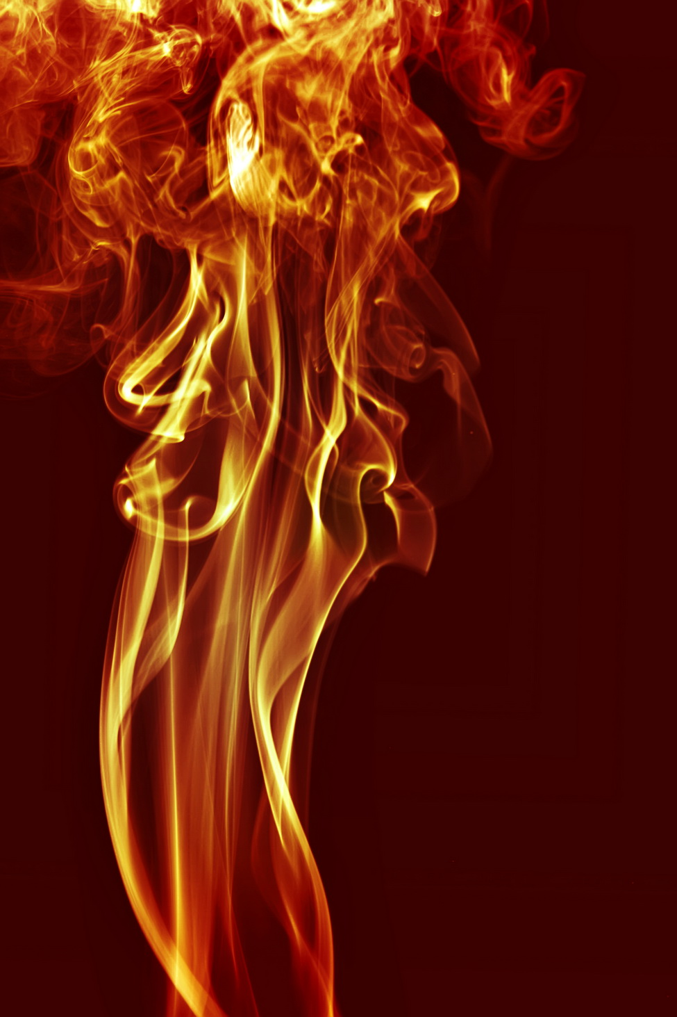 Red smoke, Abstract, Black, Burn, Color, HQ Photo