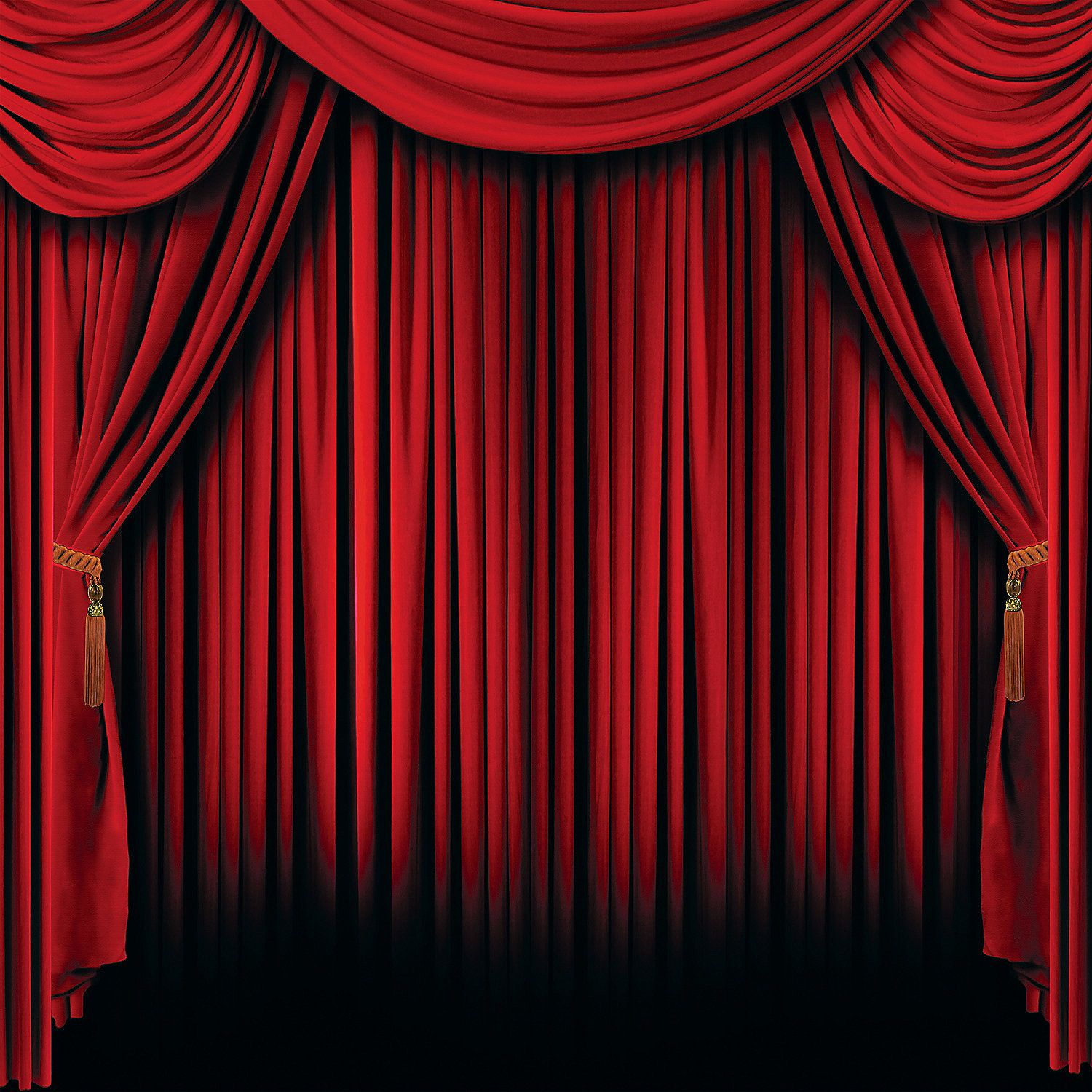 Red stage curtain photo