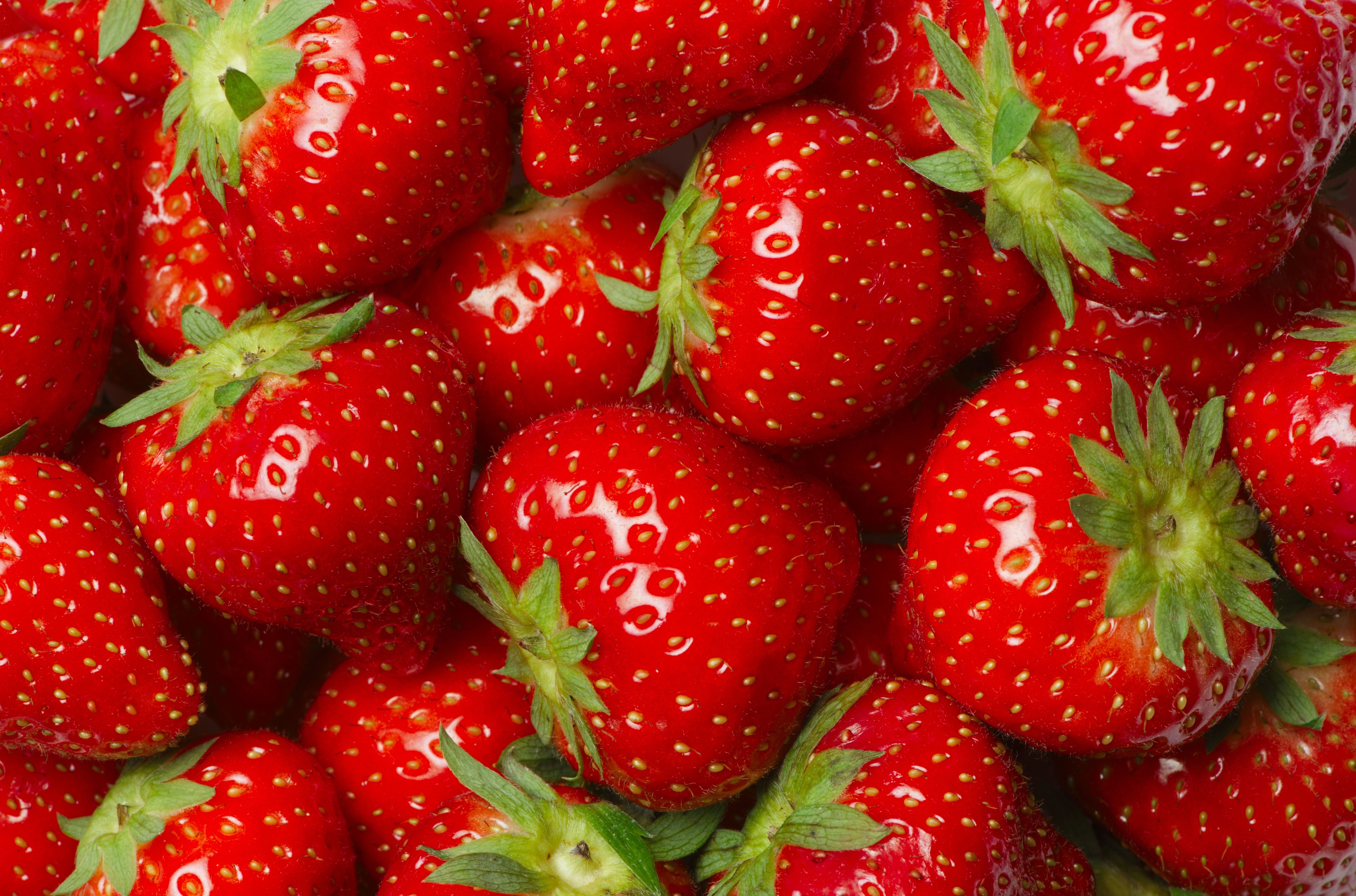 Wallpapers Red Strawberry Food Fruit 8548x5648