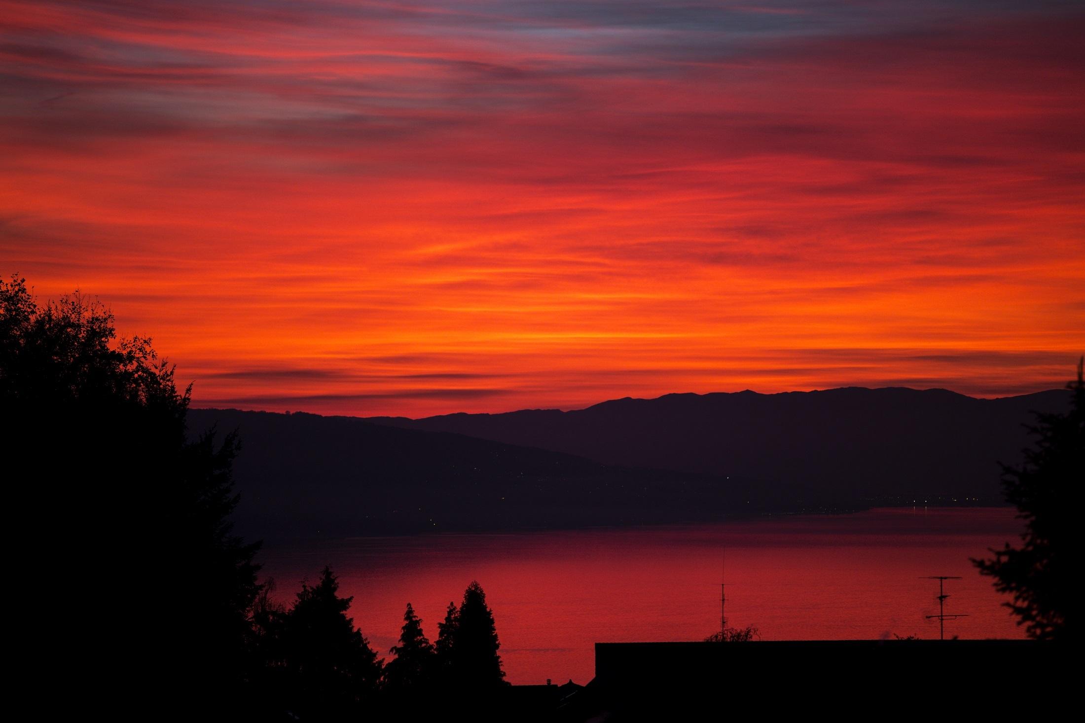 Red sunset photo