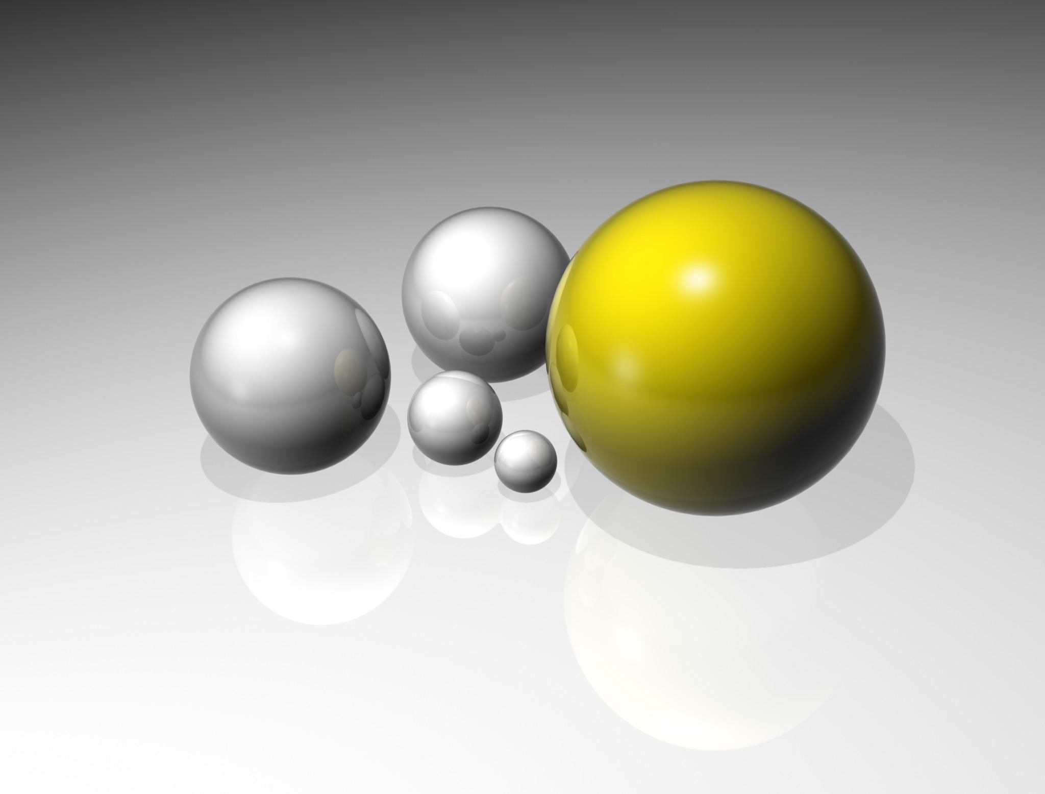 Reflecting spheres photo