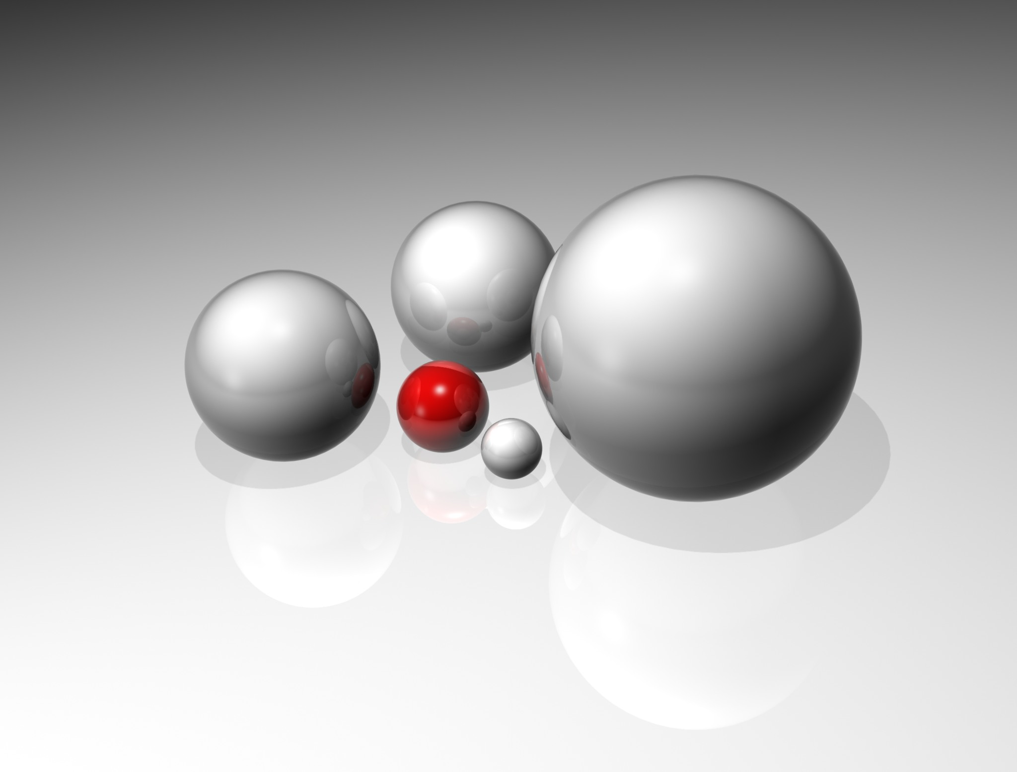Reflecting Spheres, 3d, Balls, Clean, Model, HQ Photo