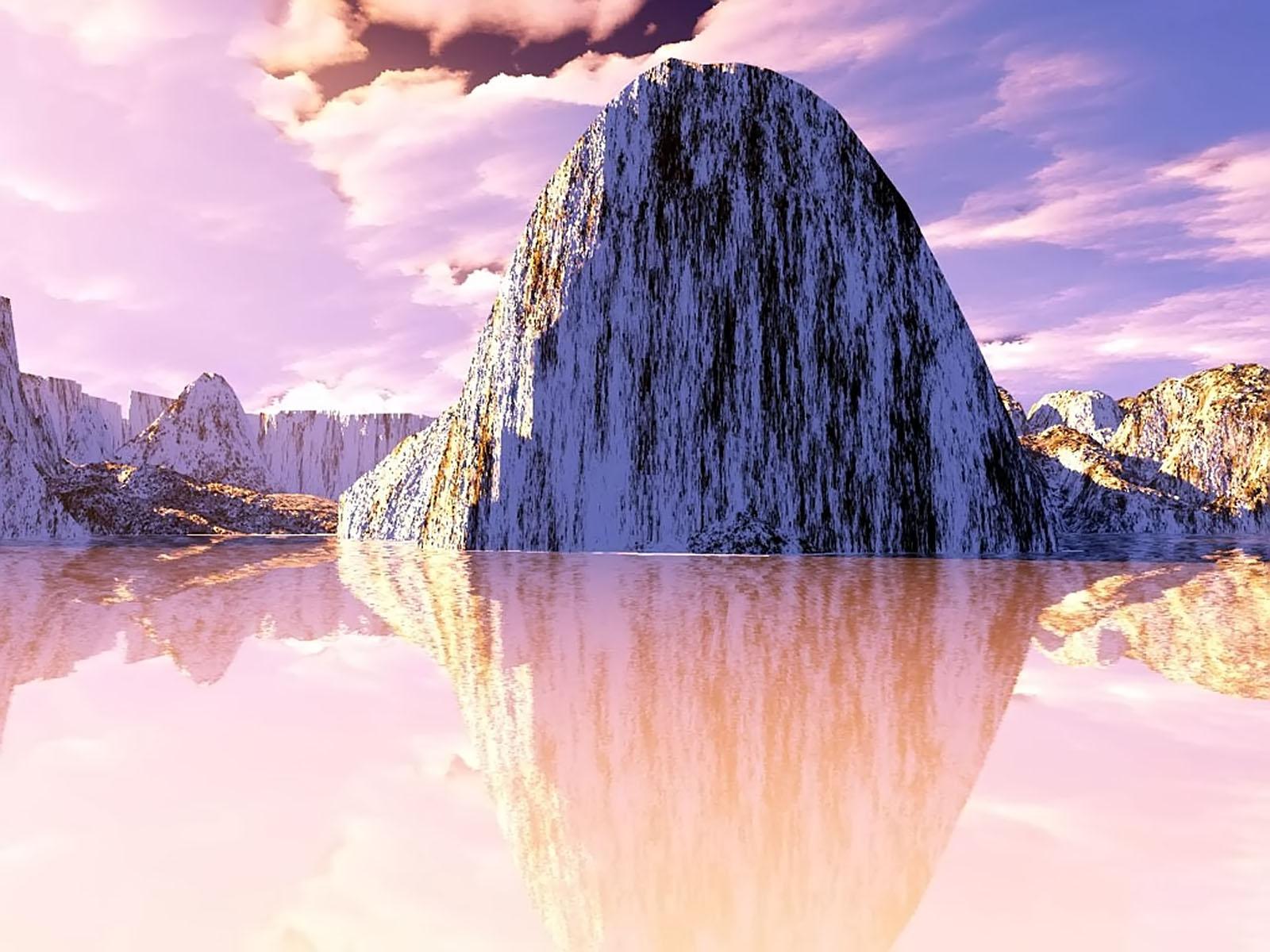 REFLECTION, 3d, Bspo06, Landscape, Mountain, HQ Photo
