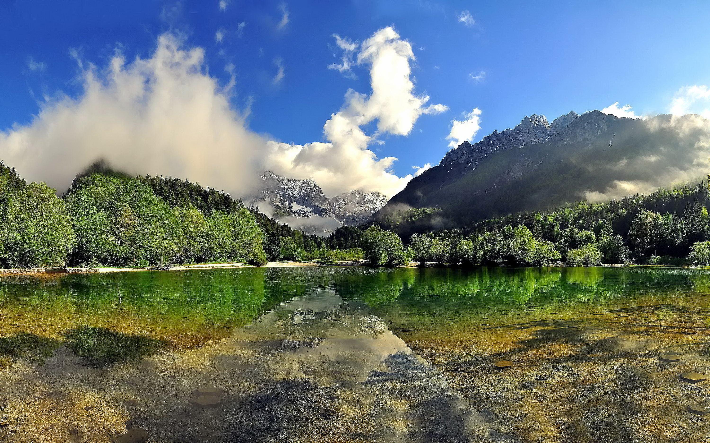 Reflective lake photo