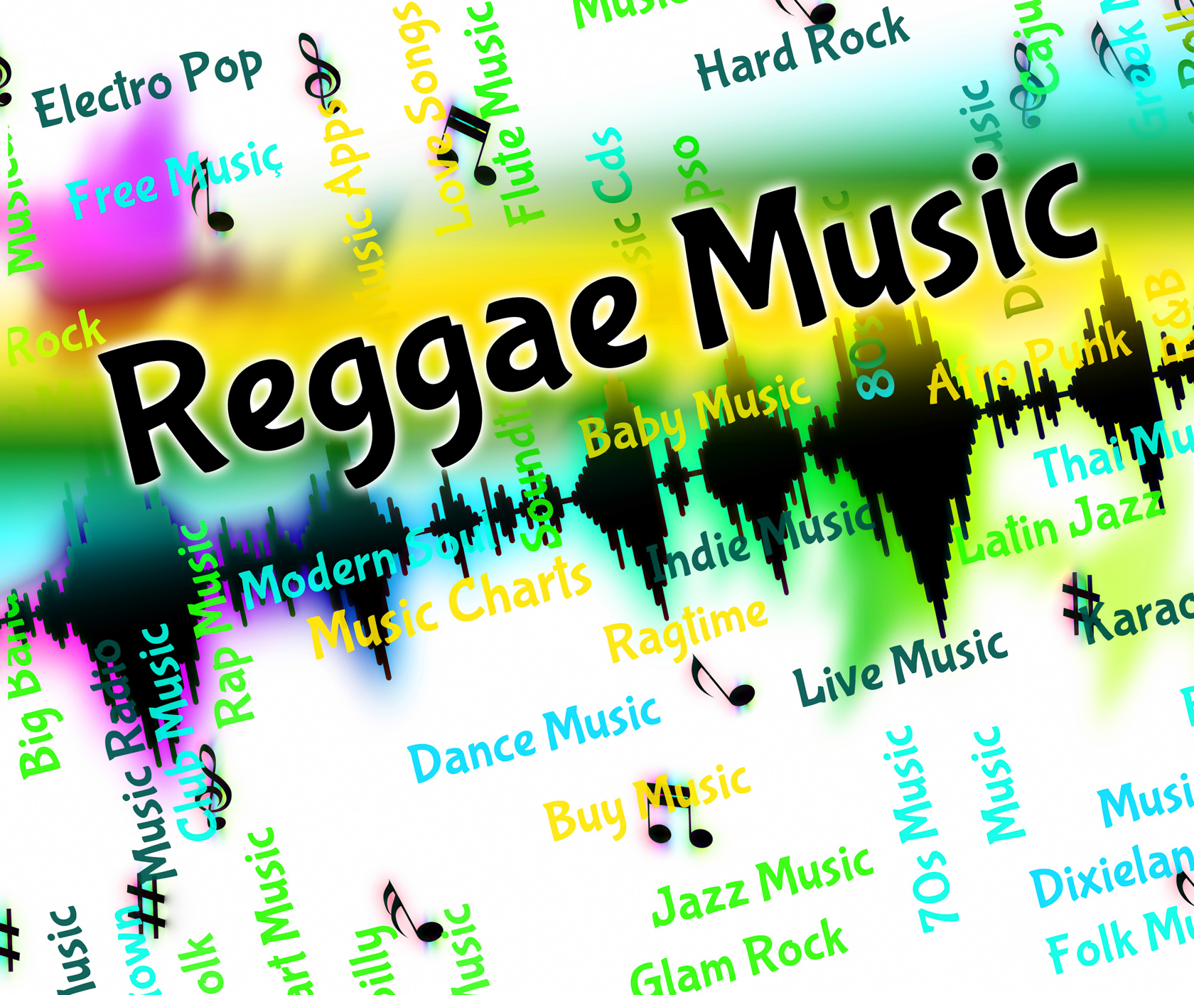Reggae music means sound tracks and calypso photo