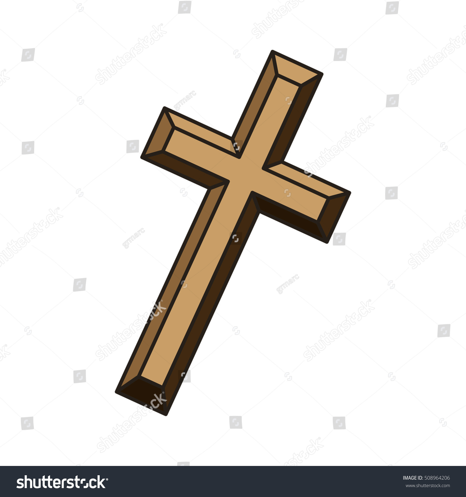 Religious Cross Icon Stock Vector 508964206 - Shutterstock