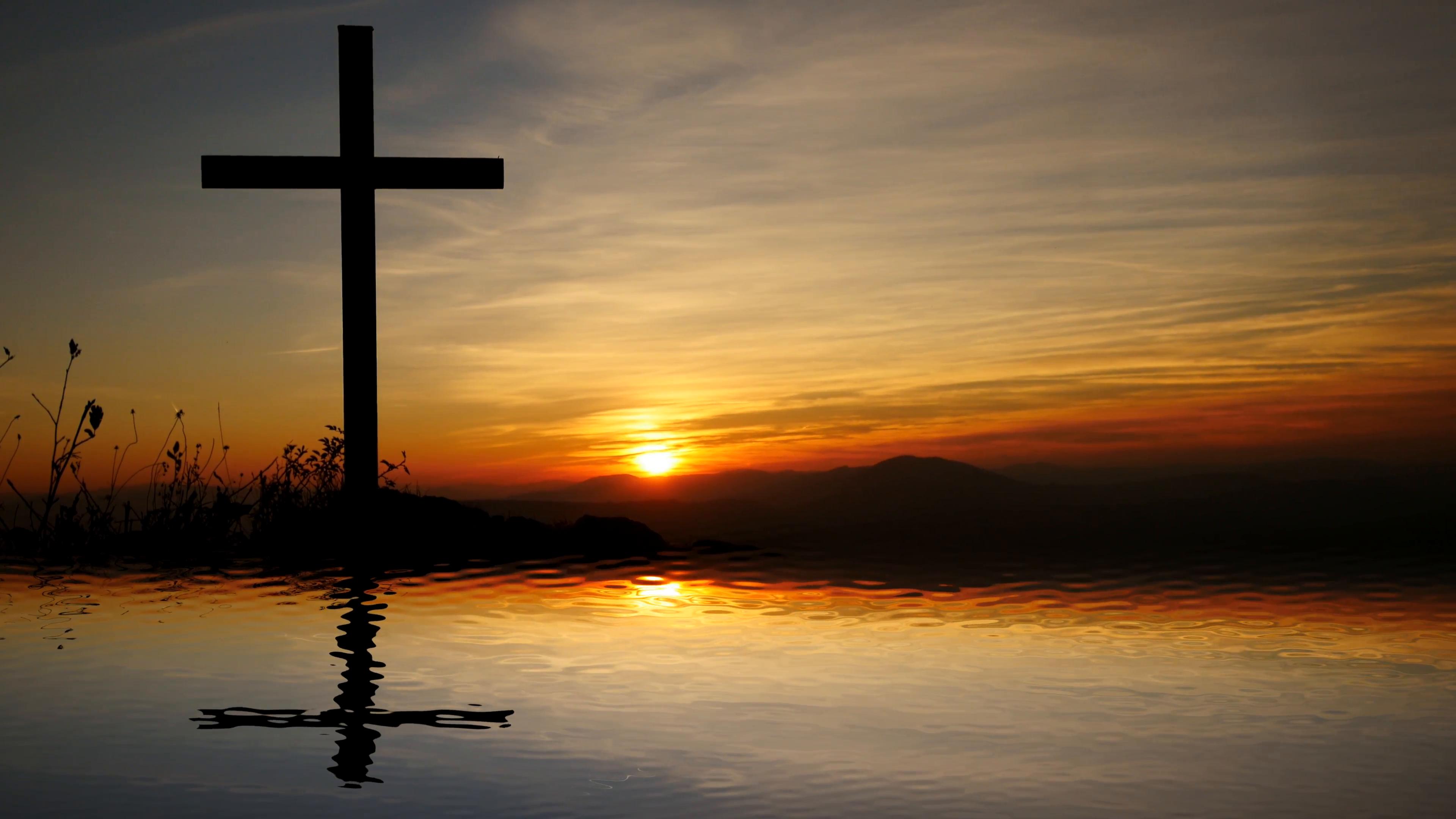 jesus cross religious symbol. hope and believe background Stock ...