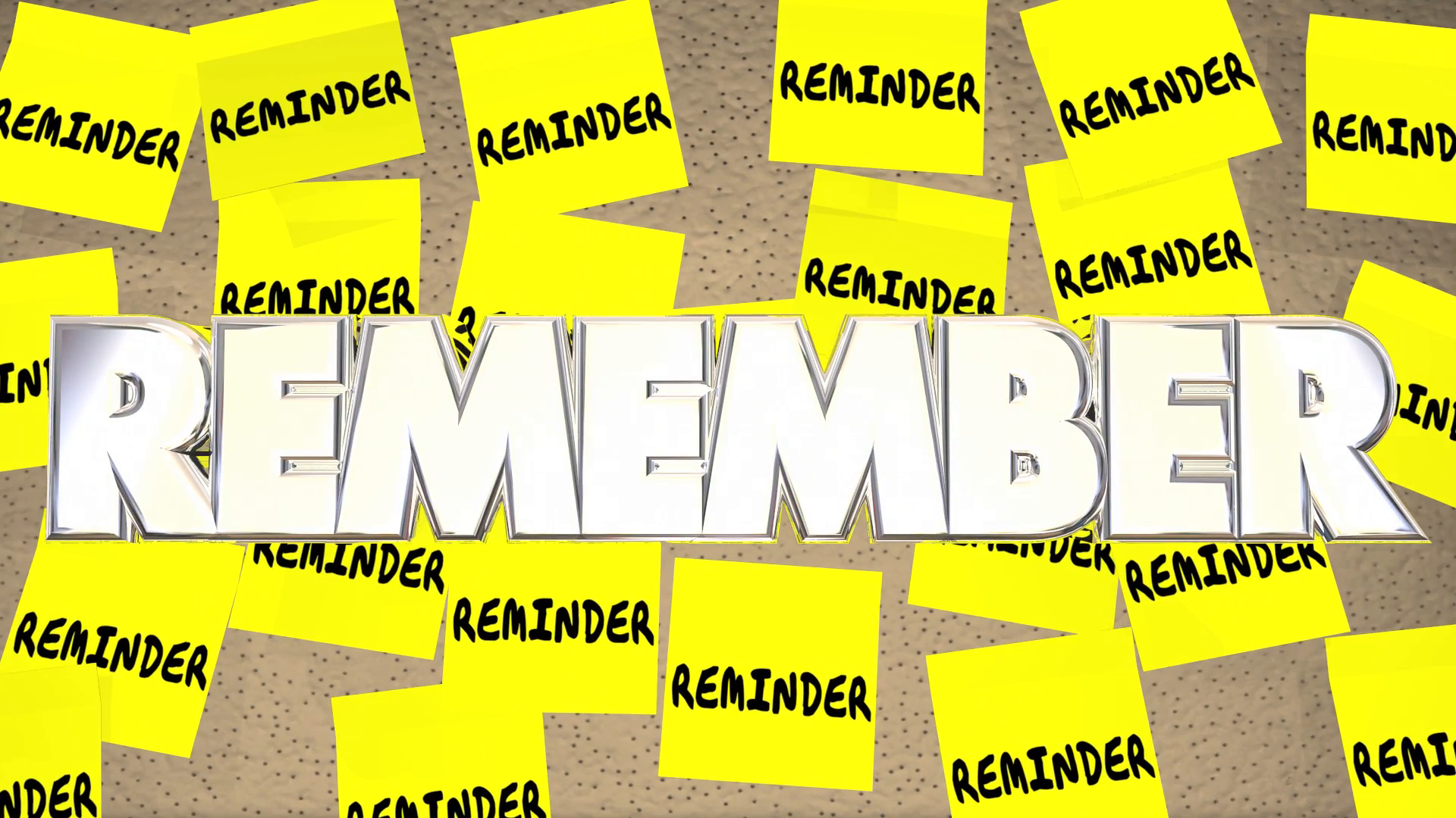 Reminder Sticky Notes Remember Important Meeting To Do List Motion ...