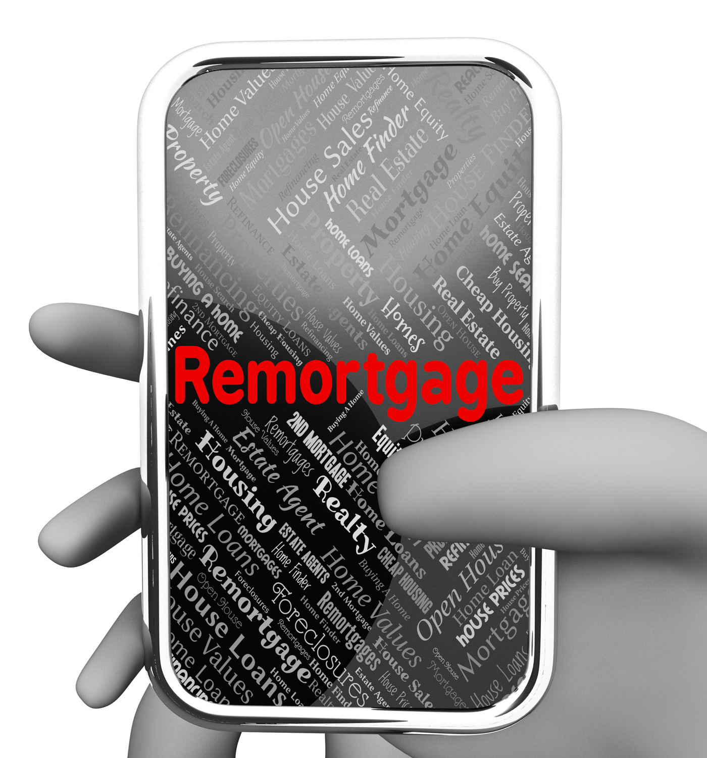 Remortgage online indicates real estate and borrowing photo