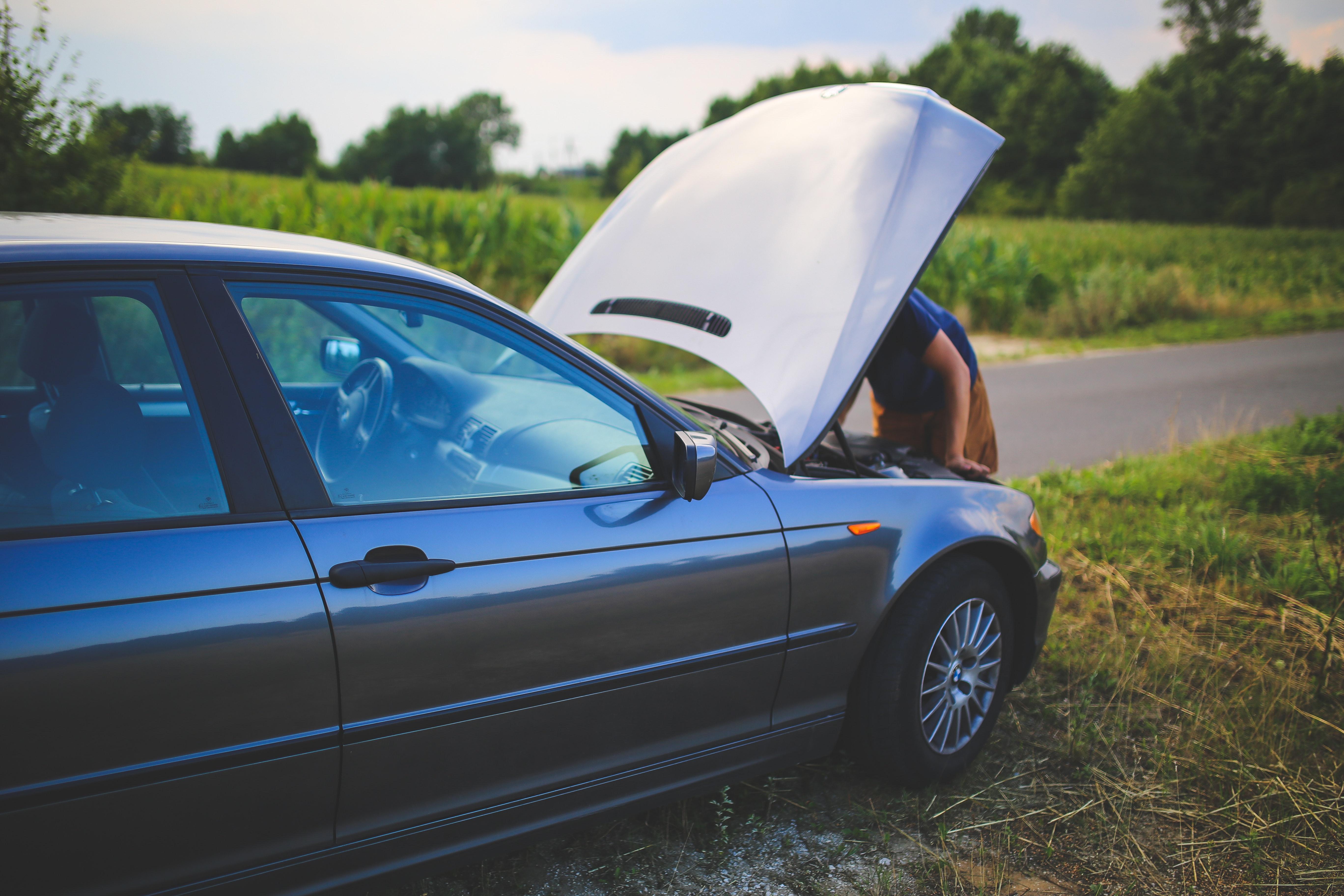 Repairing a car photo