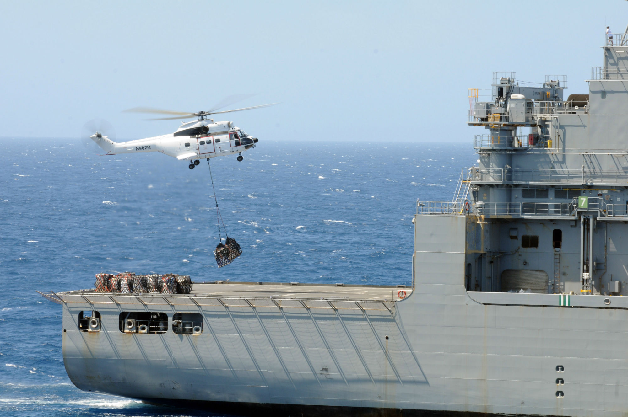USS Emory S. Land Conducts Replenishment at Sea > Commander ...