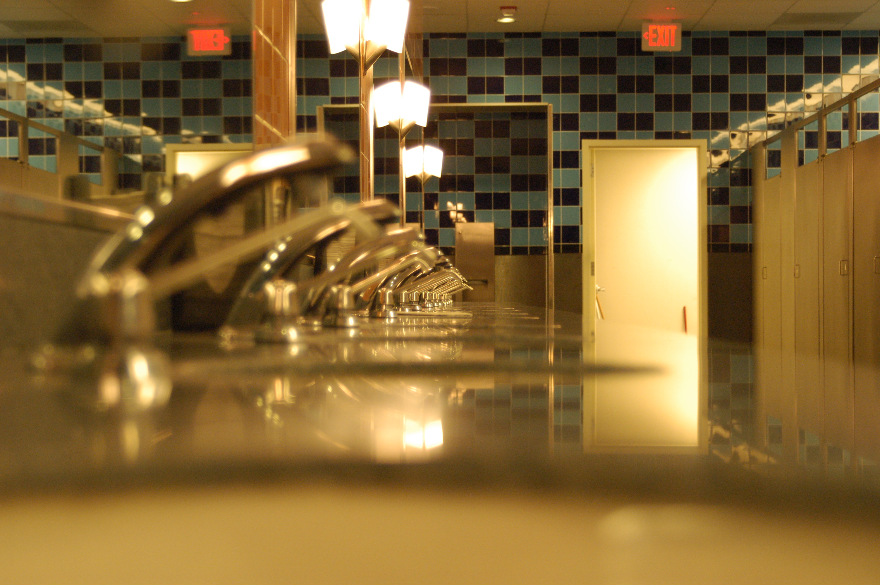 Rest room, Angle, Bathroom, Doors, Light, HQ Photo