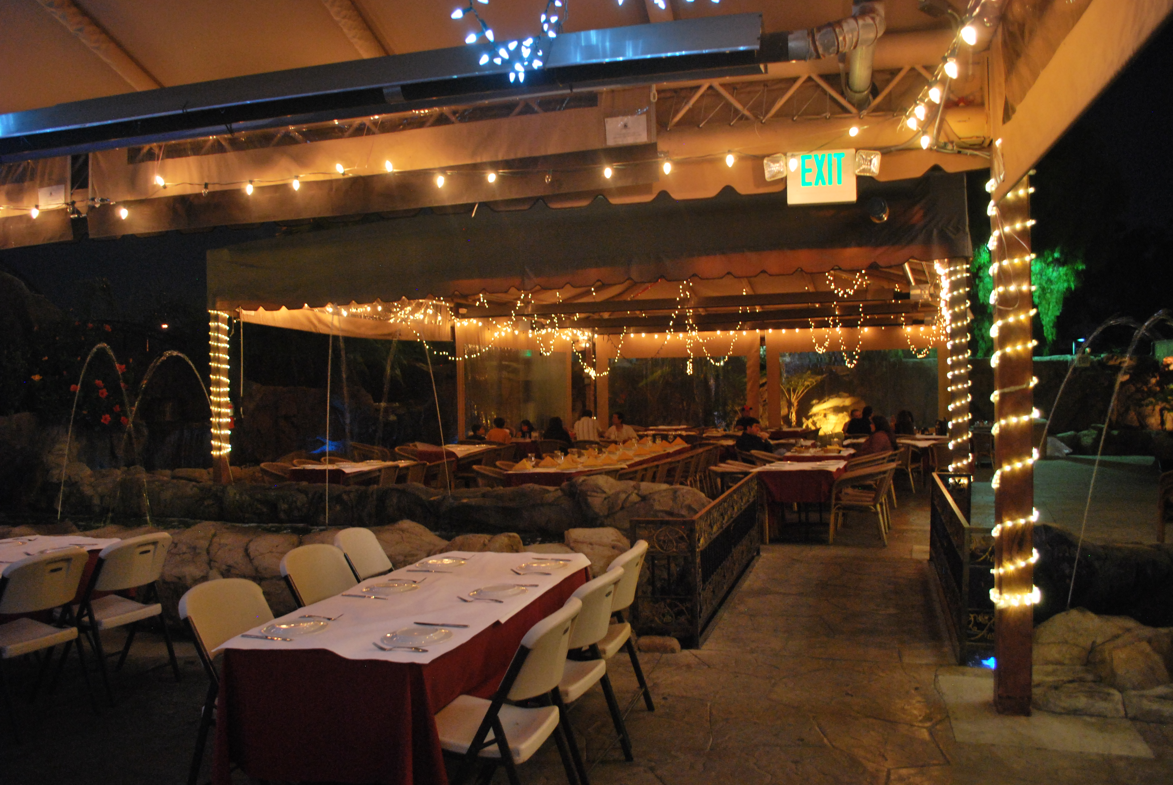 Restaurant Canopy with Lights – Above All Awnings