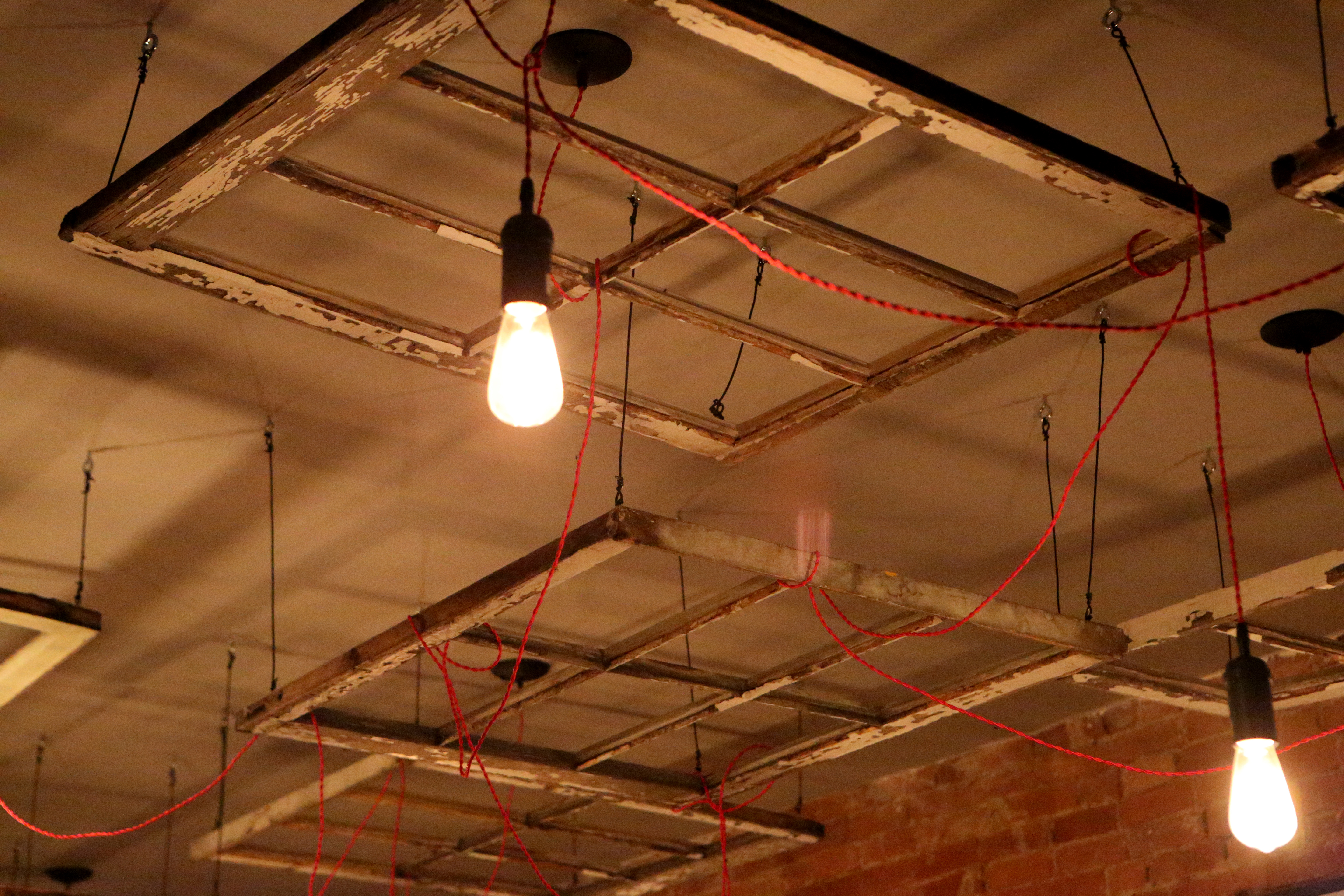 Restaurant Lights, Bulbs, Ceiling, Construction, Electricity, HQ Photo