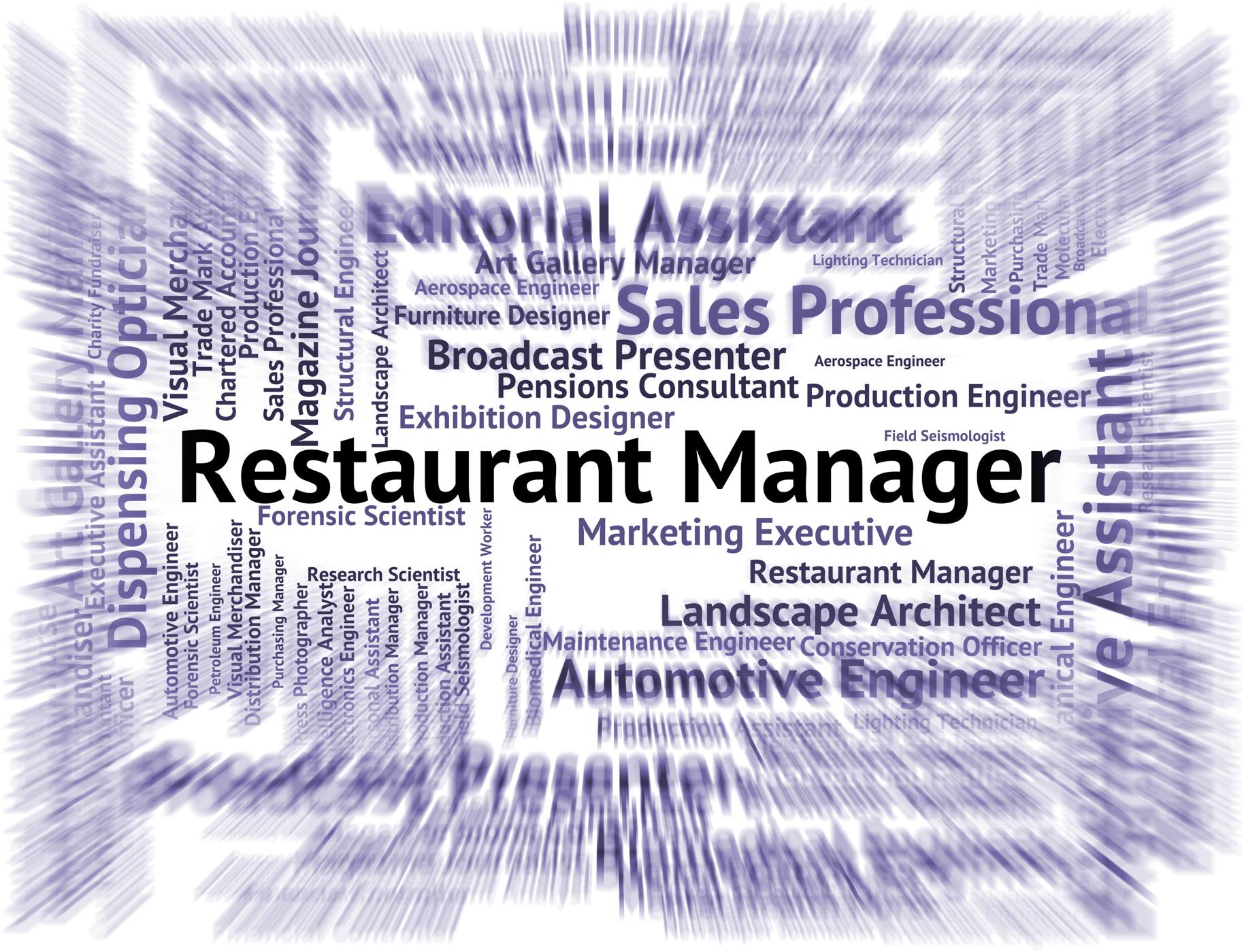 Restaurant manager indicates supervisor employer and restaurants photo