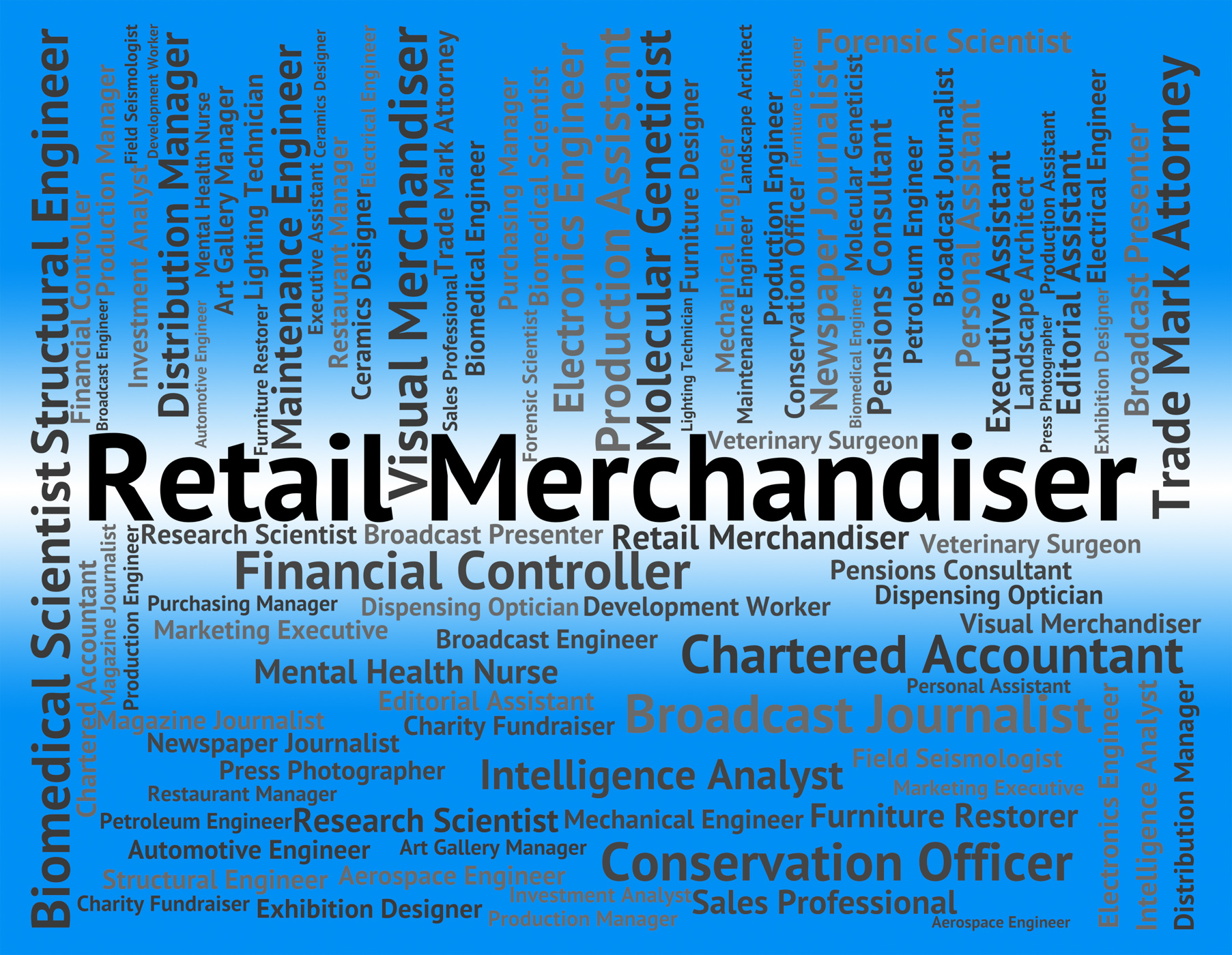 Retail Merchandiser Indicates Merchandising Tradesman And Positi, Commerce, Selling, Recruitment, Retail, HQ Photo