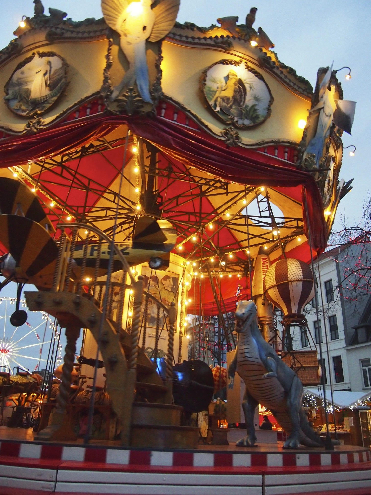 Retro artistic merry go round in brussel photo