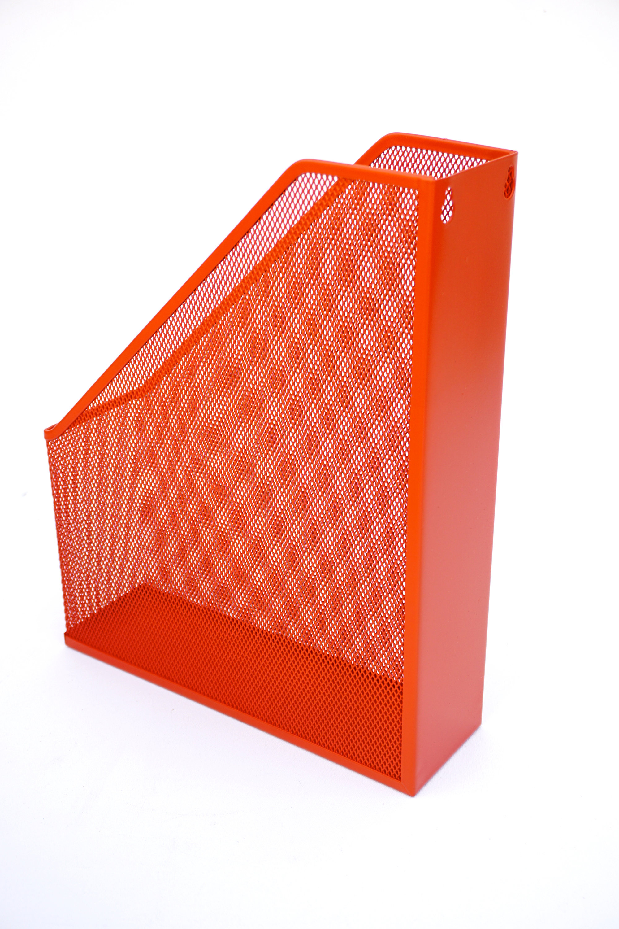 FIRE ORANGE Retro MODERN Industrial Metal Office Organizer Set Color ...