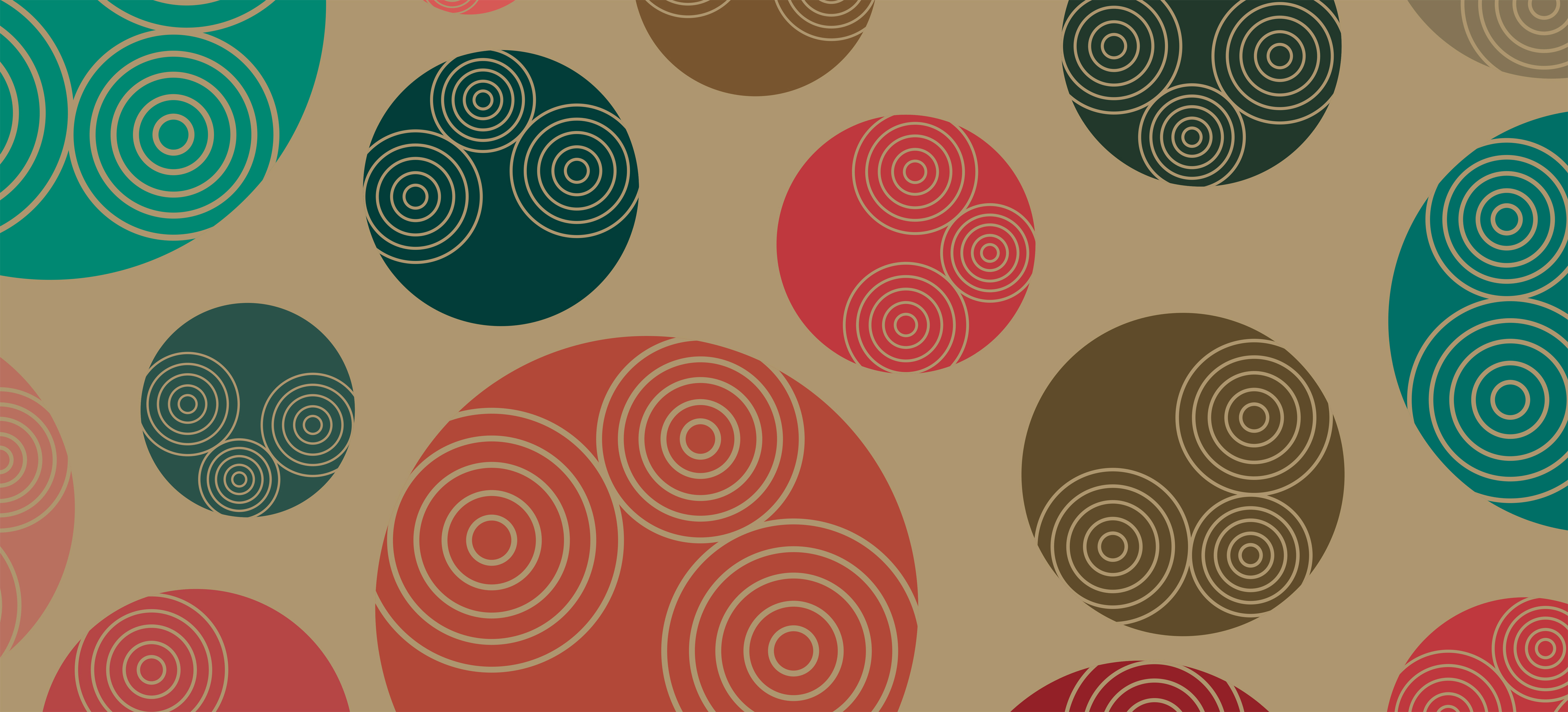 Retro-styled 70s background pattern, Poster, Seventies, Seamless, Rounded, HQ Photo