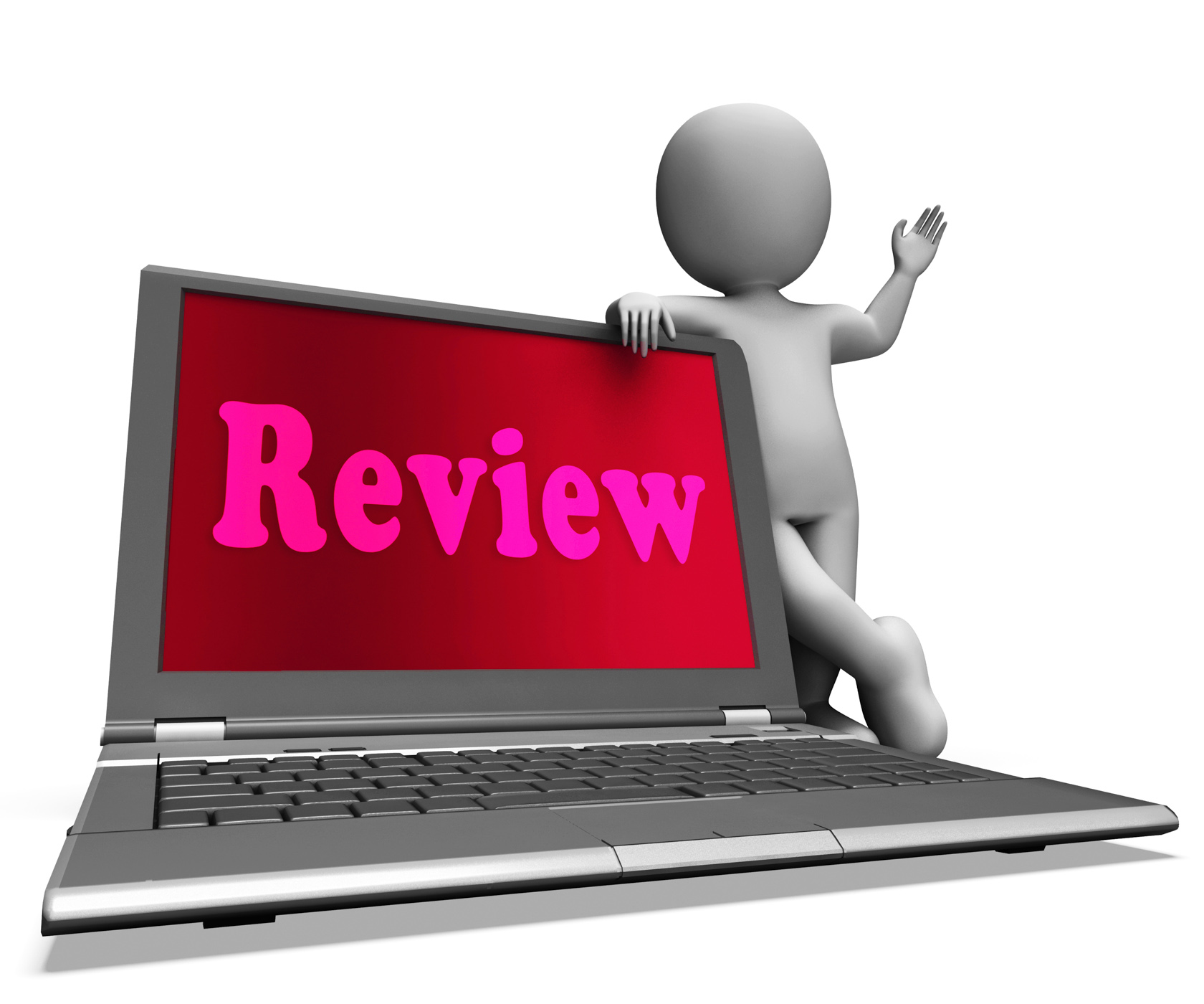 Review Laptop Means Check Evaluation Or Reassess, 3d, Recheck, Thinkover, Revision, HQ Photo
