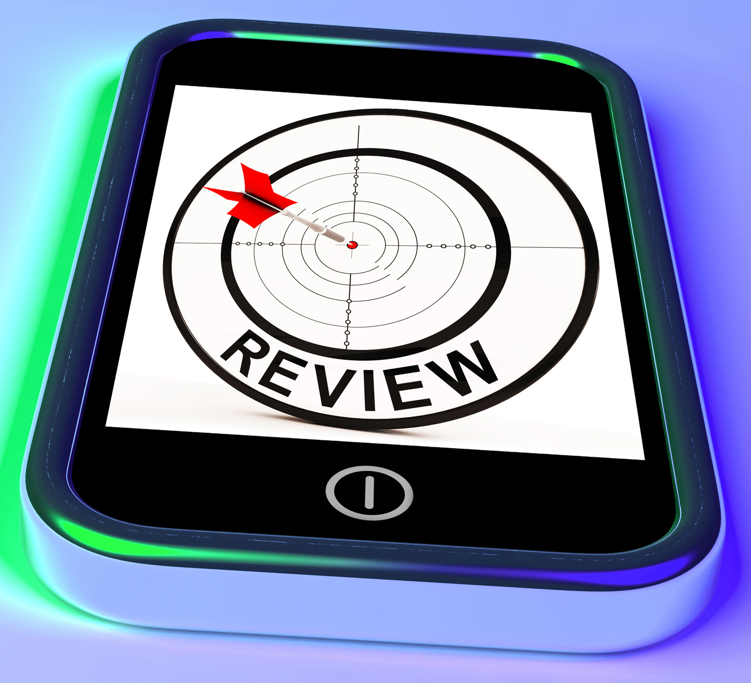Review smartphone shows feedback evaluation and assessment photo