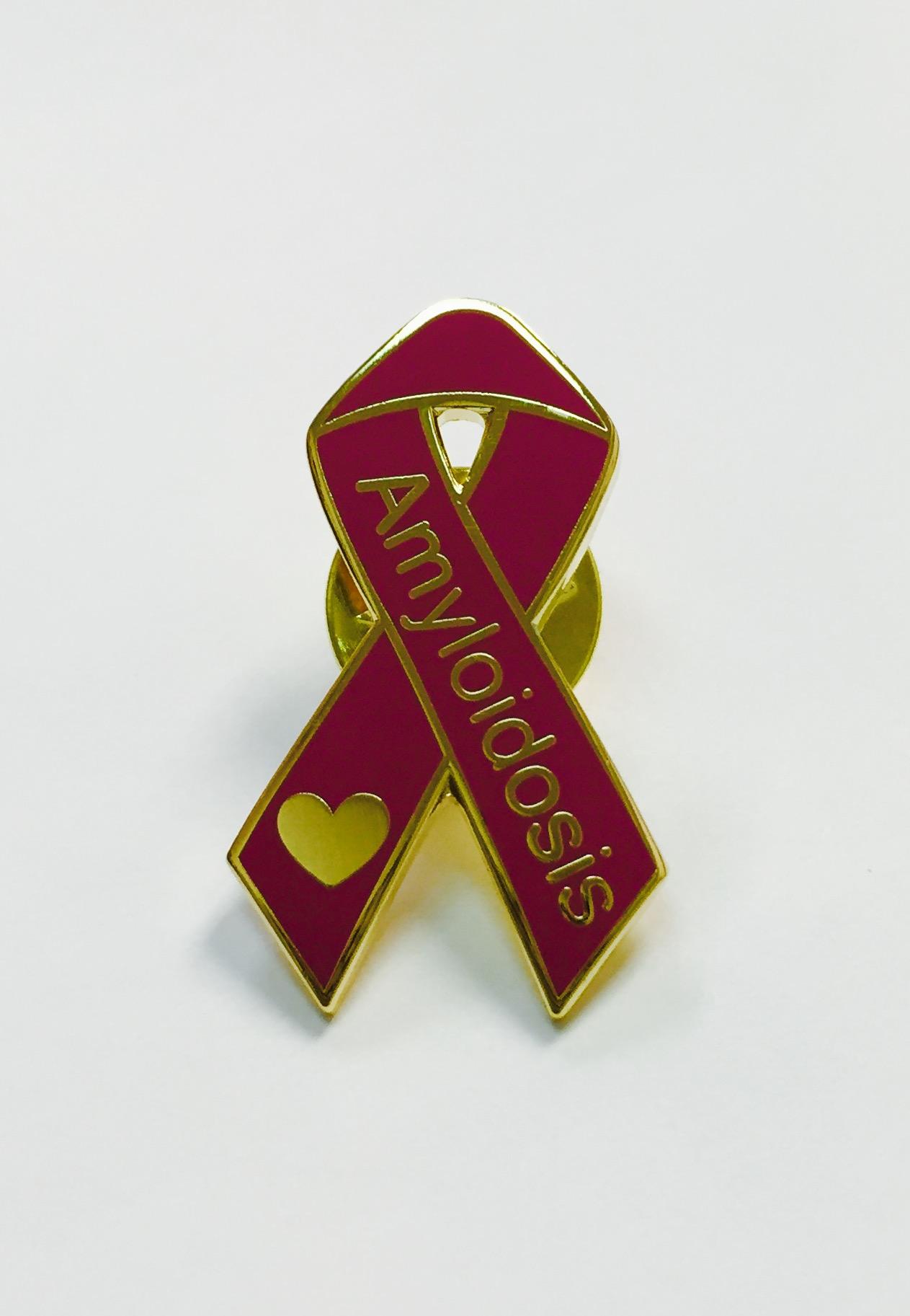 Ribbon Awareness Pin - Amyloidosis Foundation