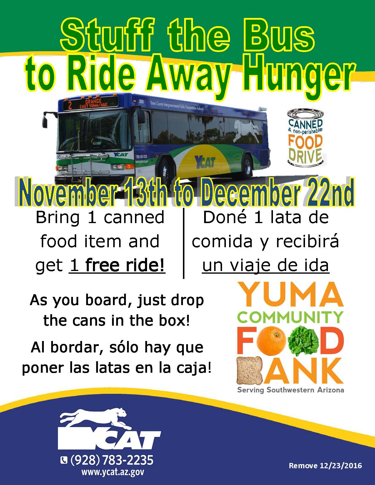 News - Stuff the Bus to Ride Away Hunger - Yuma Community Food Bank ...