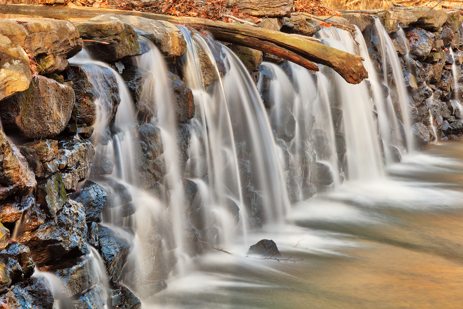 Ridley creek dam waterfall - hdr photo