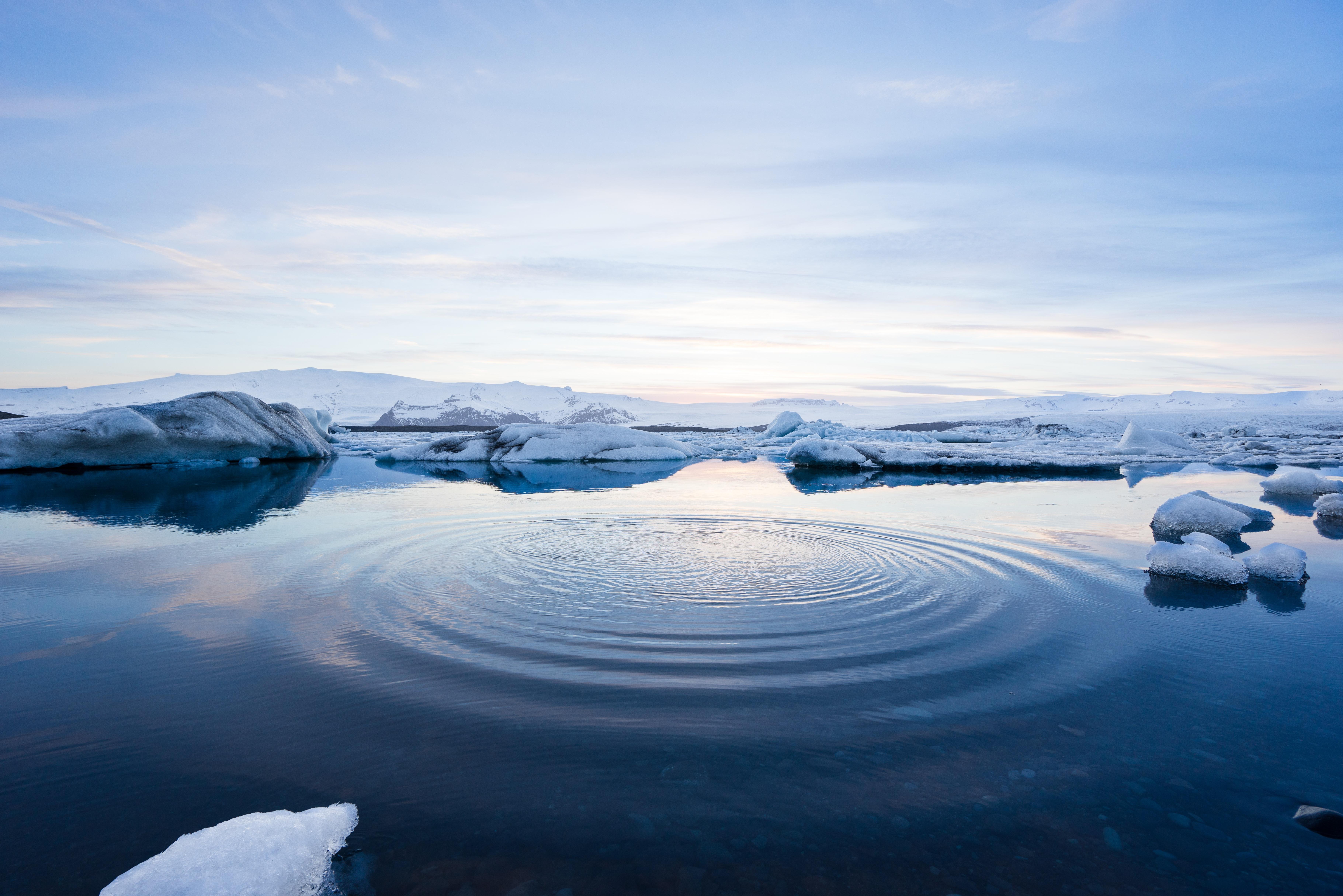 Ripples, Disturbance, Iceberg, Ripple, Splash, HQ Photo