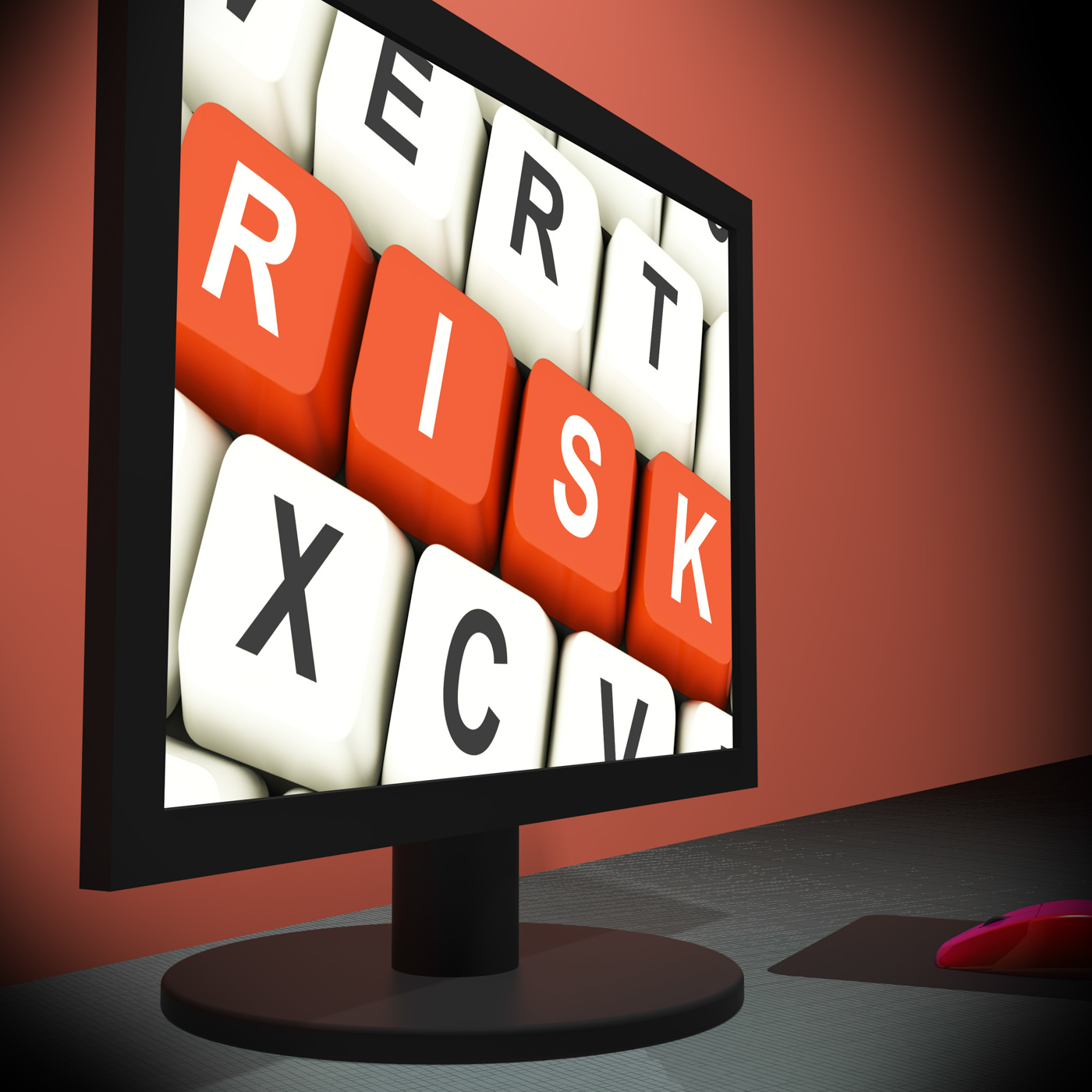 Risk on monitor shows unstable situation photo