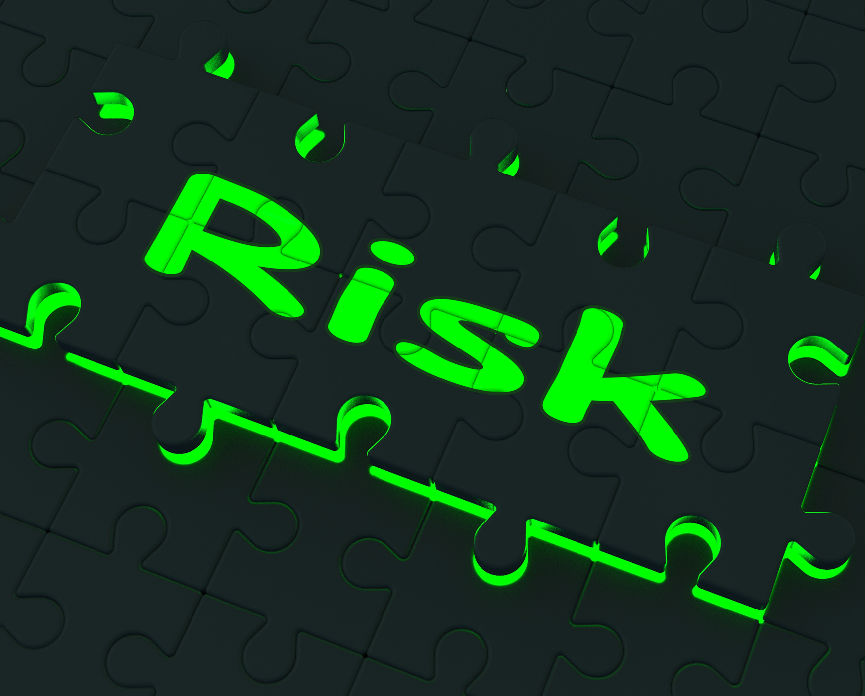 Risk puzzle shows danger and unsafe photo