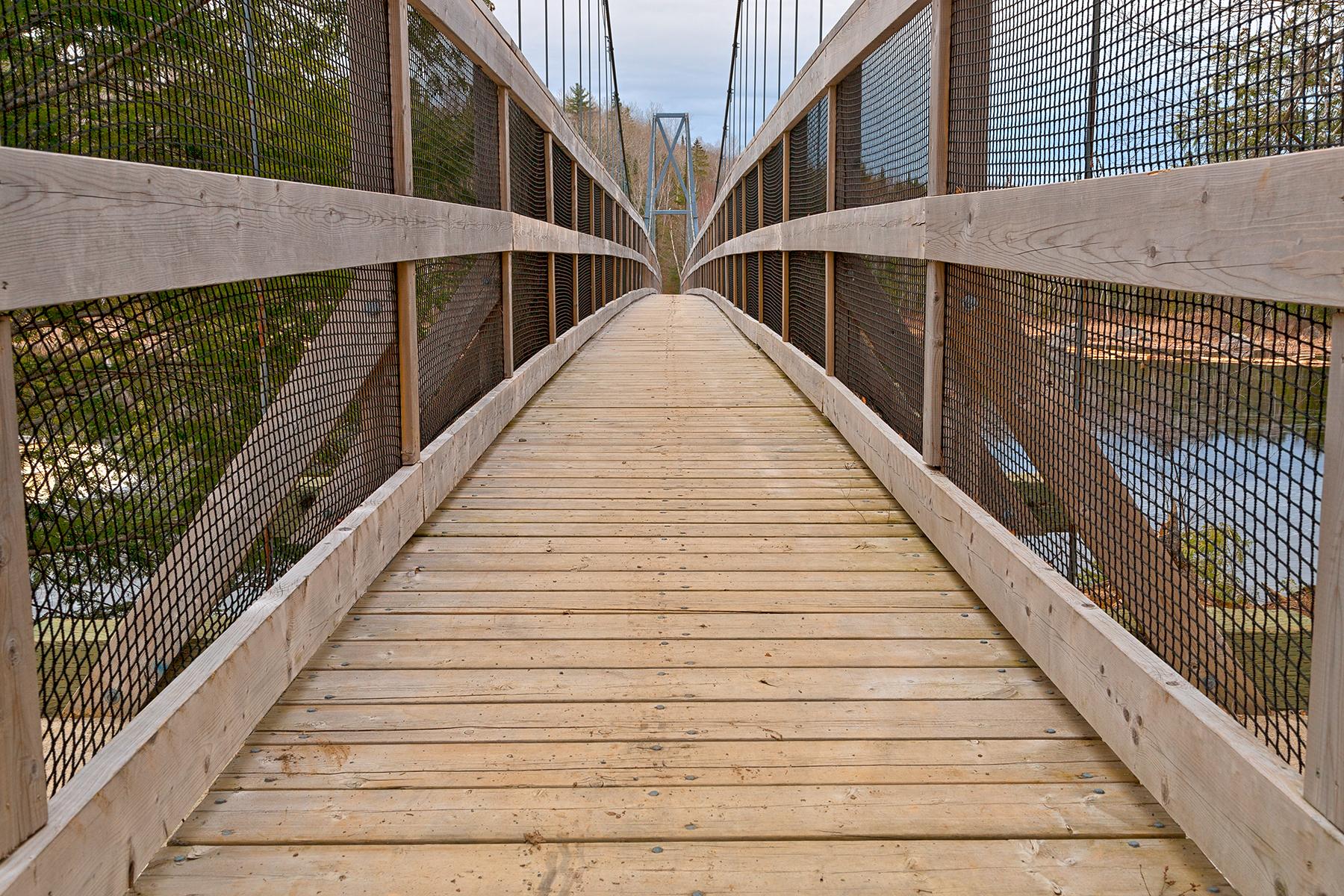 Ritchie suspension bridge - hdr photo