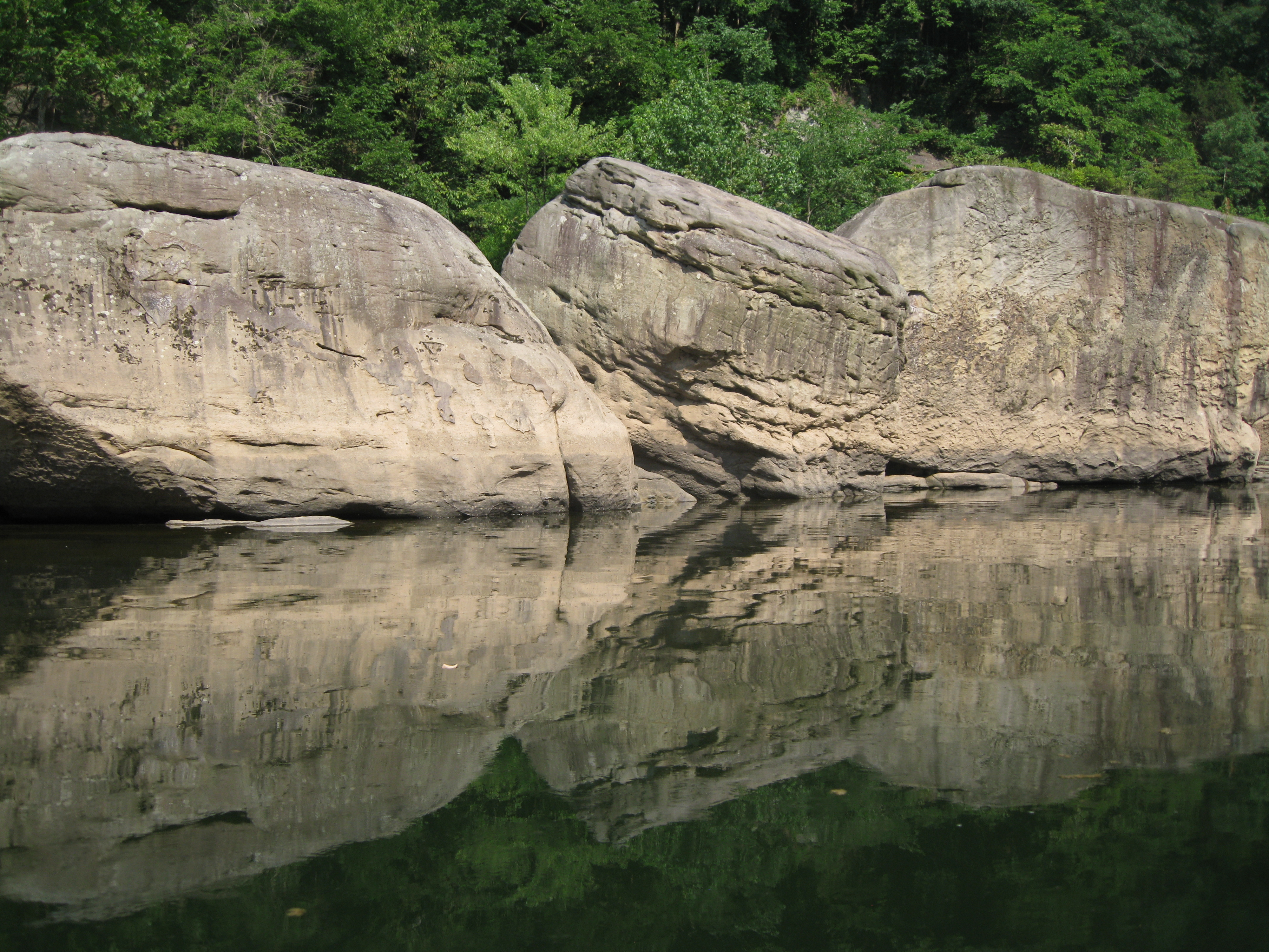 River and boulders photo
