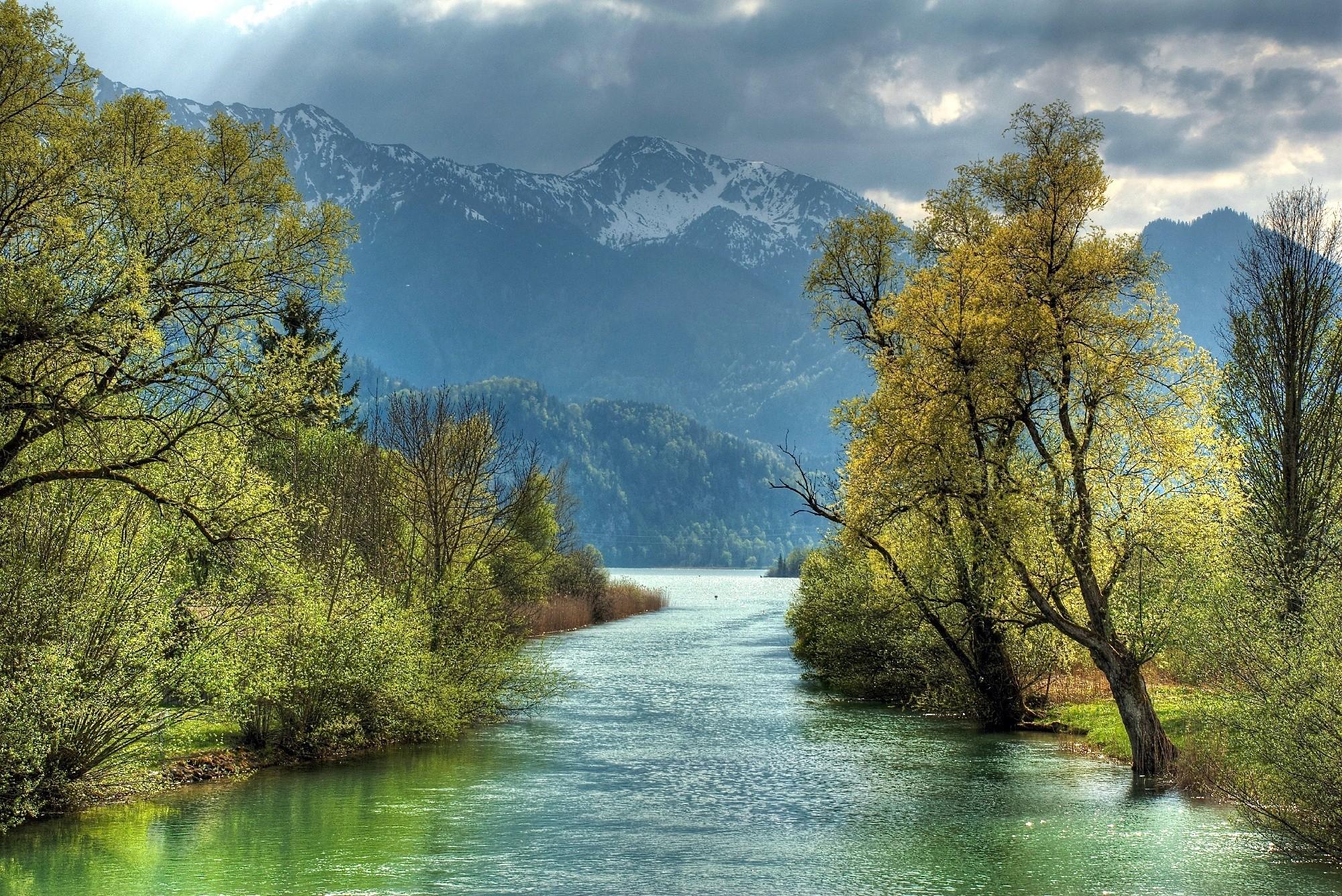 Rivers: Mountains Autumn Trees River Landscape Best Nature Wallpaper ...